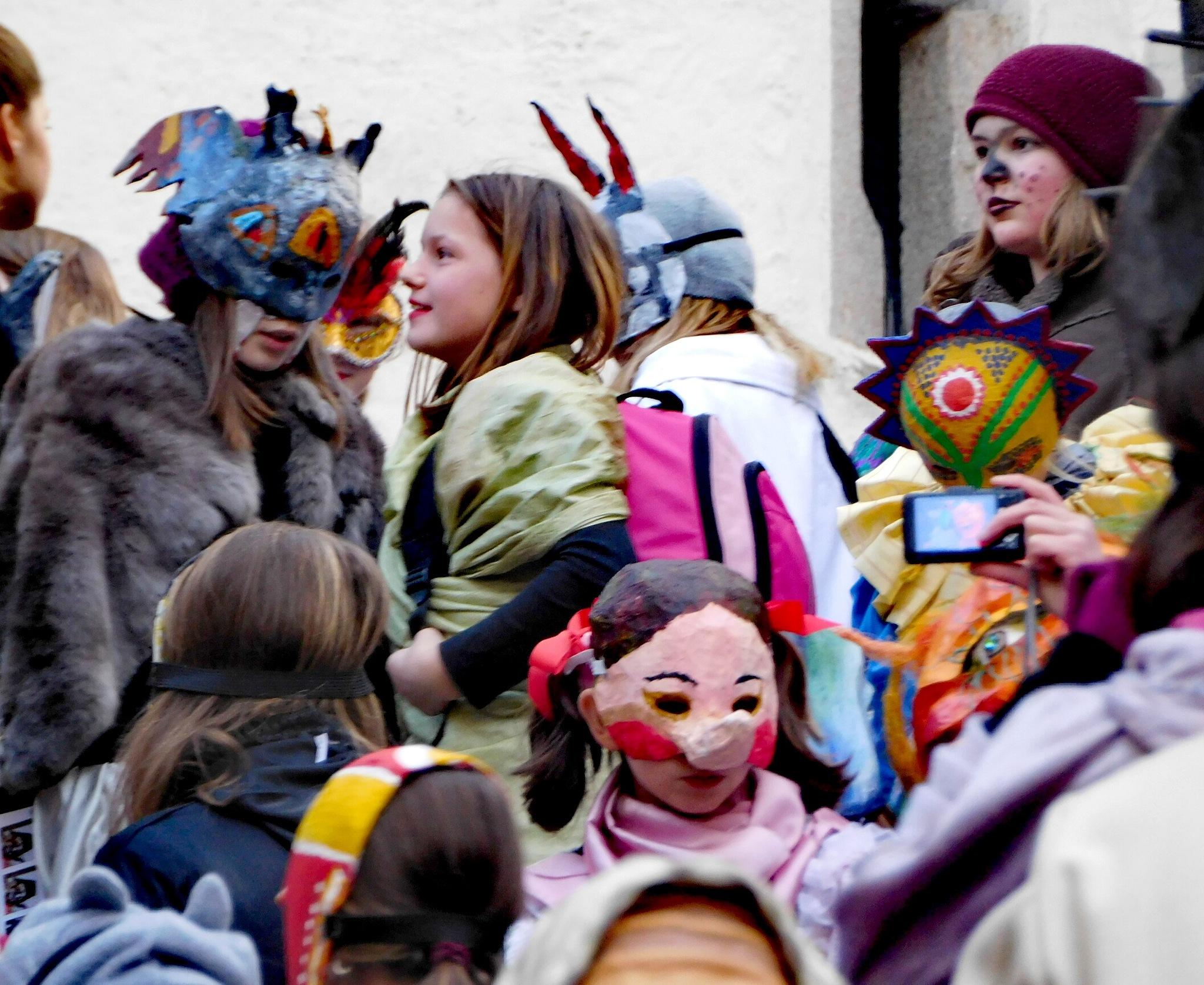 Carnival in Český Krumlov by Karel Laczko
