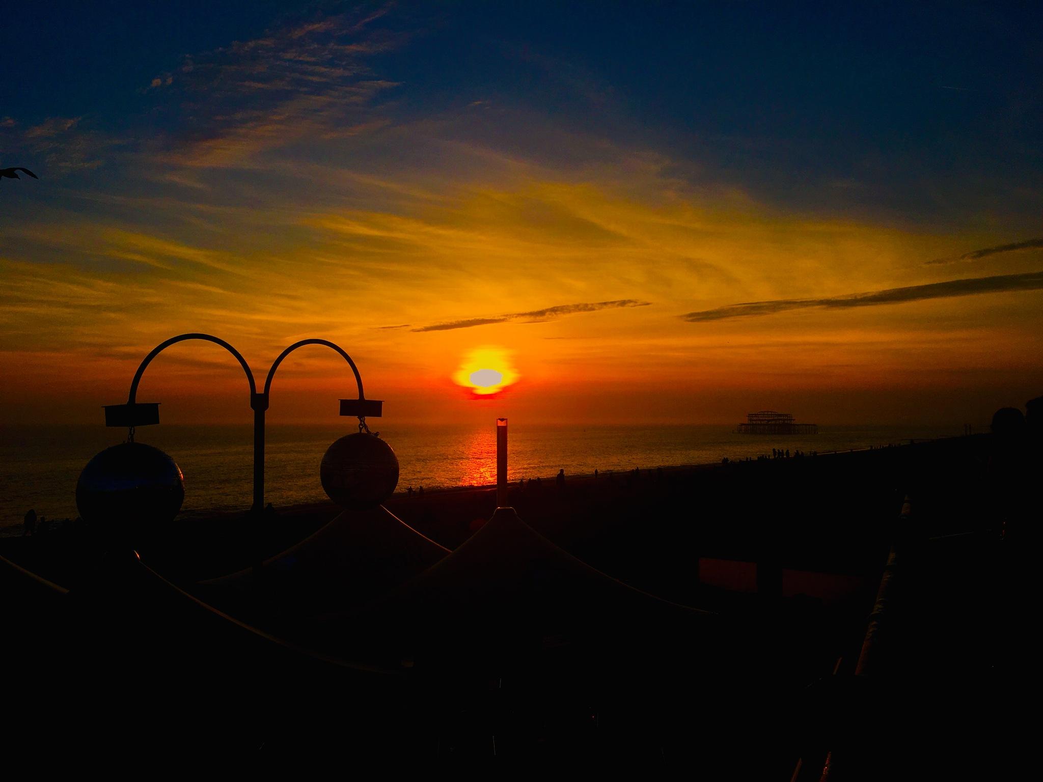 Brighton Sunset    by Tazmin Buckingham