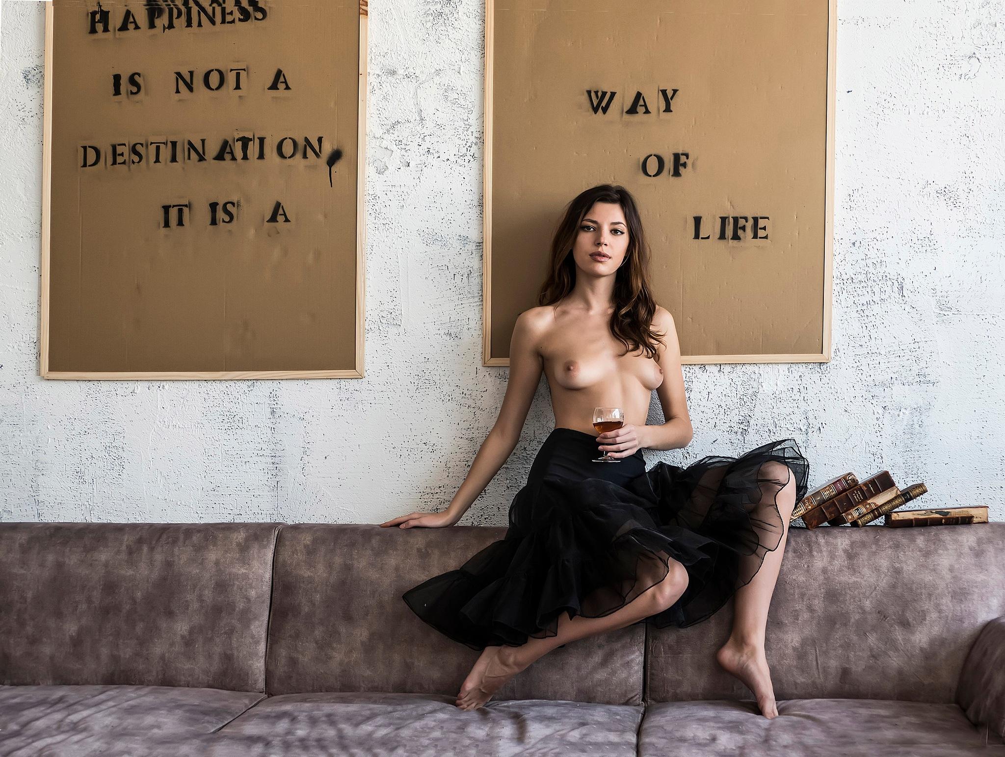 Oxana sitting pretty by Rebecca Danieli