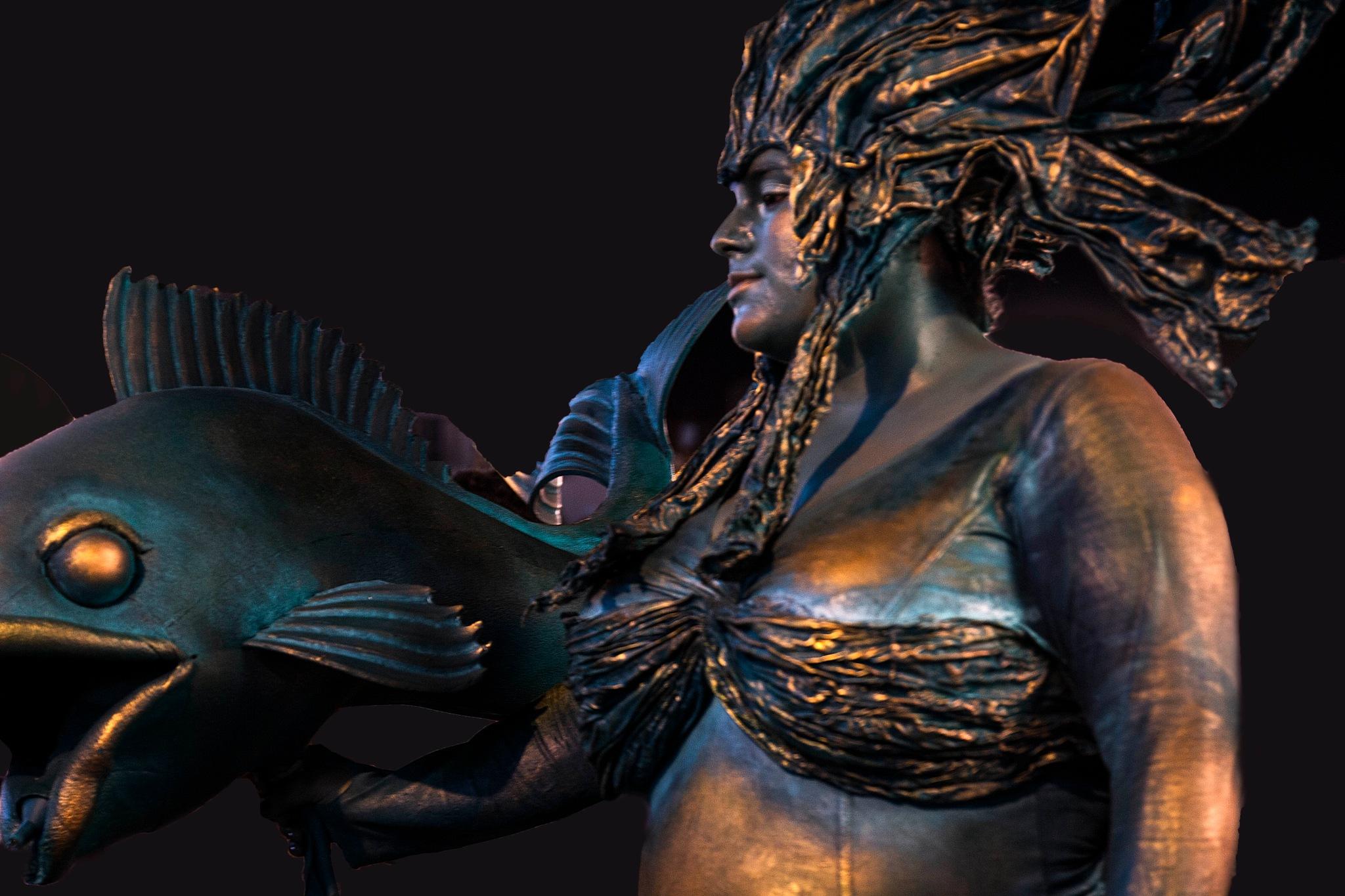 Festival Human Statues by Rebecca Danieli