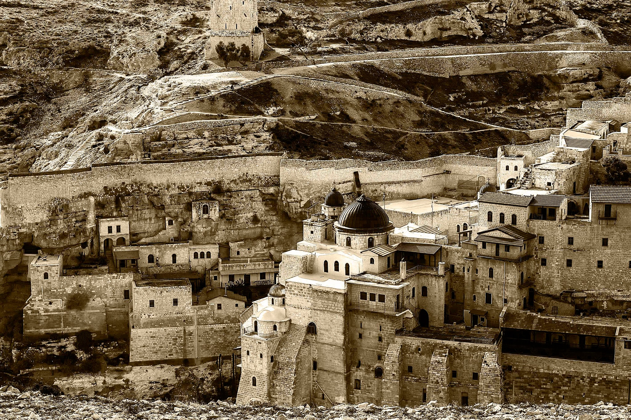 Mar Saba Monastery close up by Rebecca Danieli