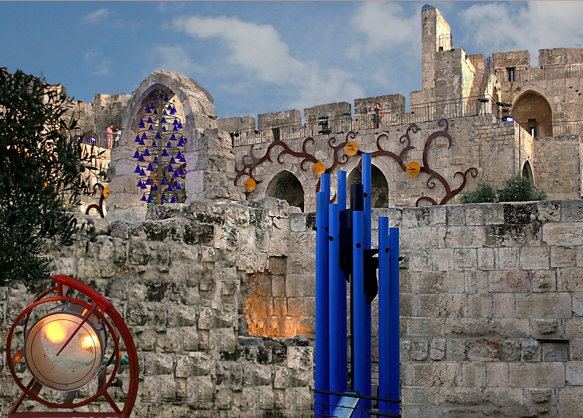 Ancient musical instruments exhibition in the Tower of David by Rebecca Danieli