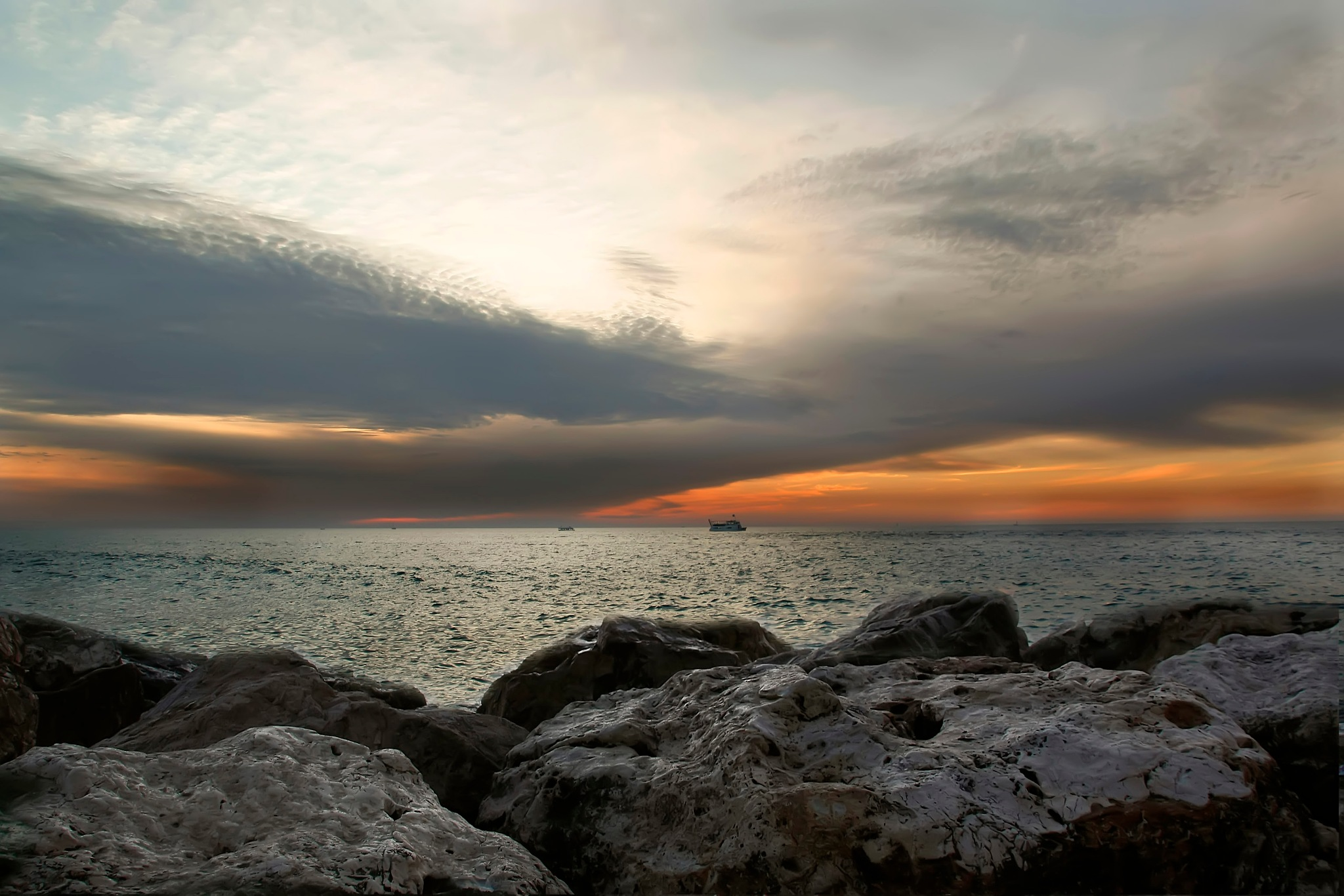 A winter sunset... by Rebecca Danieli