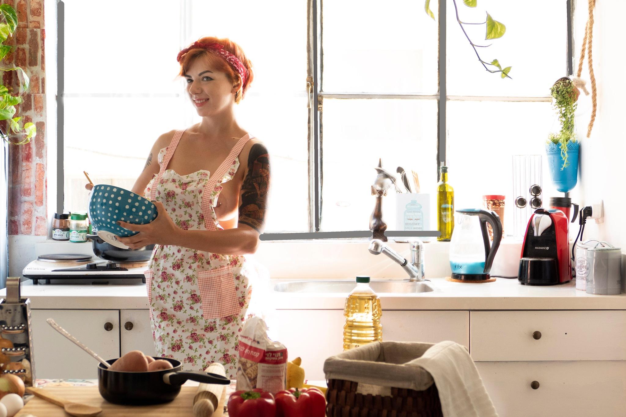Breakfast is almost ready... by Rebecca Danieli