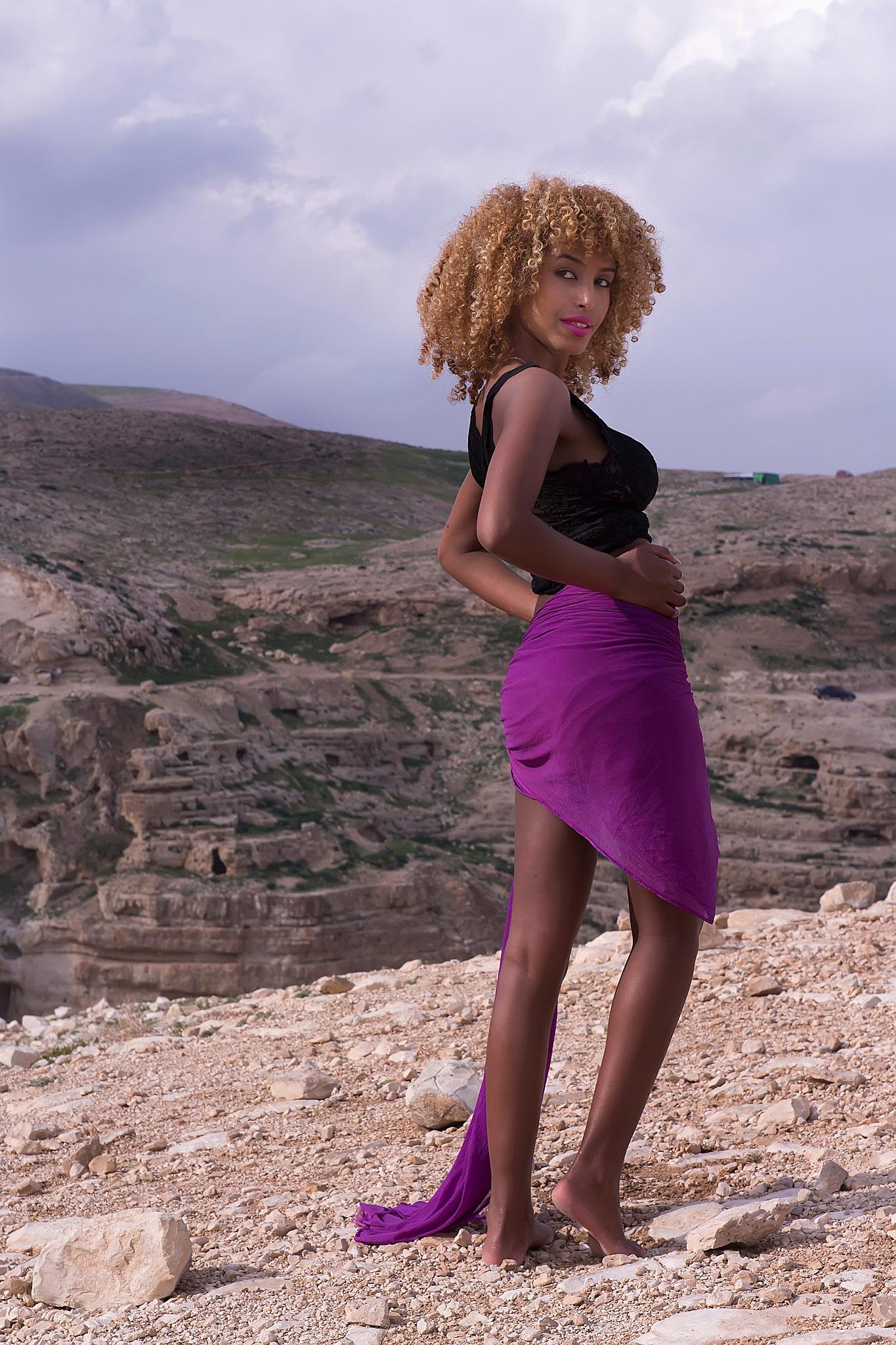 Teley in the desert by Rebecca Danieli