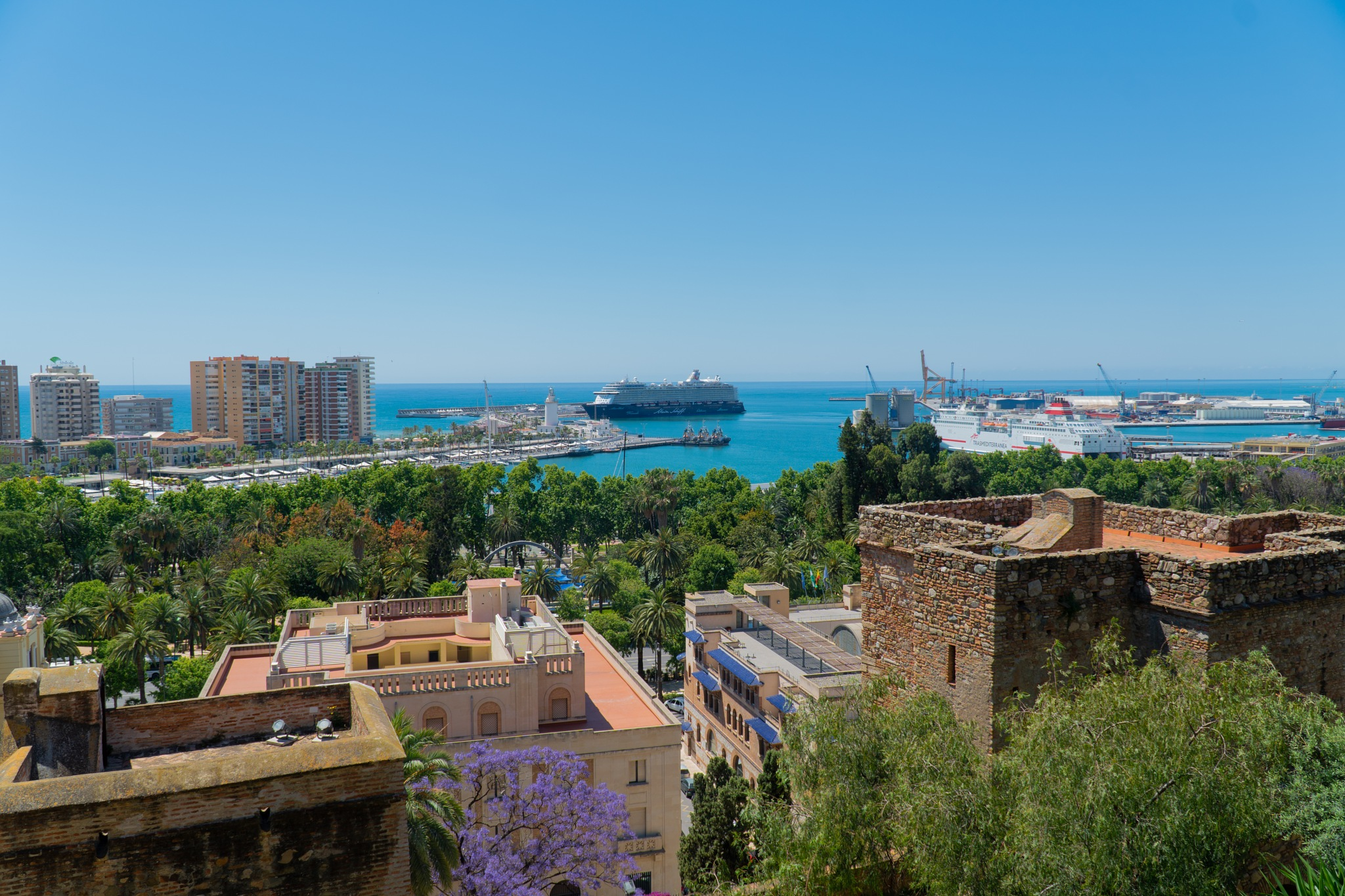 View of Malaga by Lukeghost