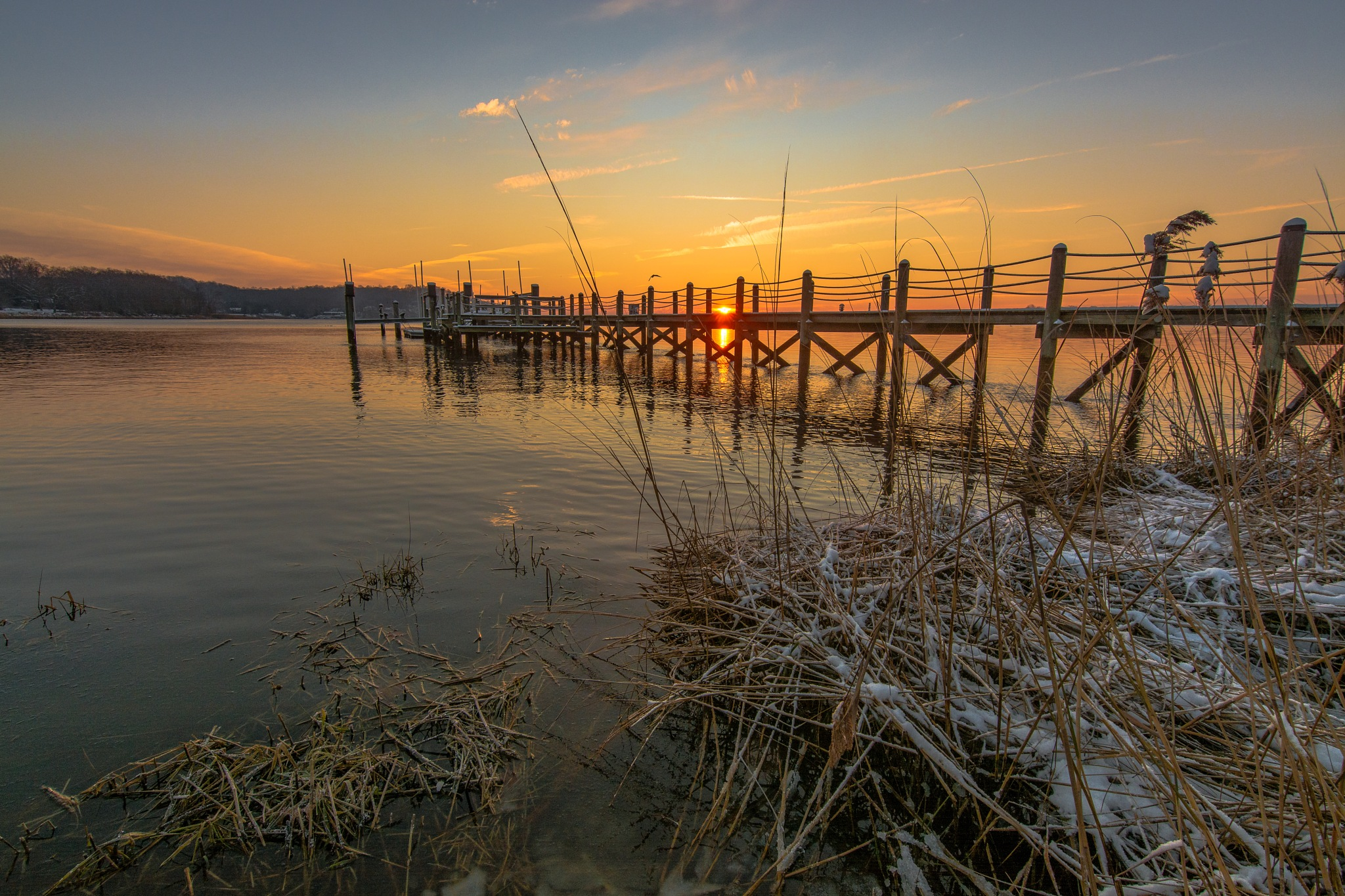 A dock on the Navesink River by Nico Bruni