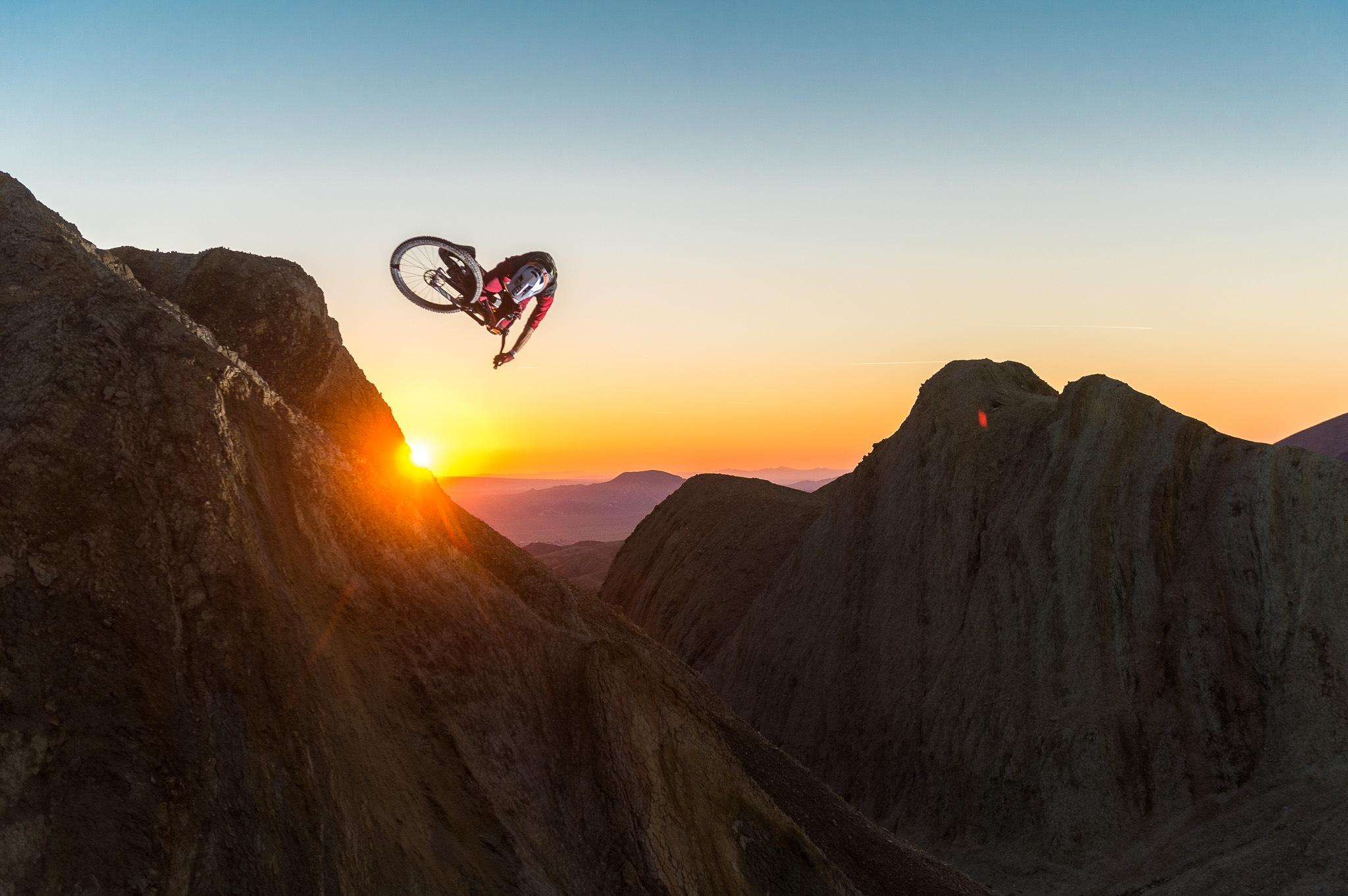 Kirt Voreis - Mountain Bike Sunset Jump by Ian Hylands