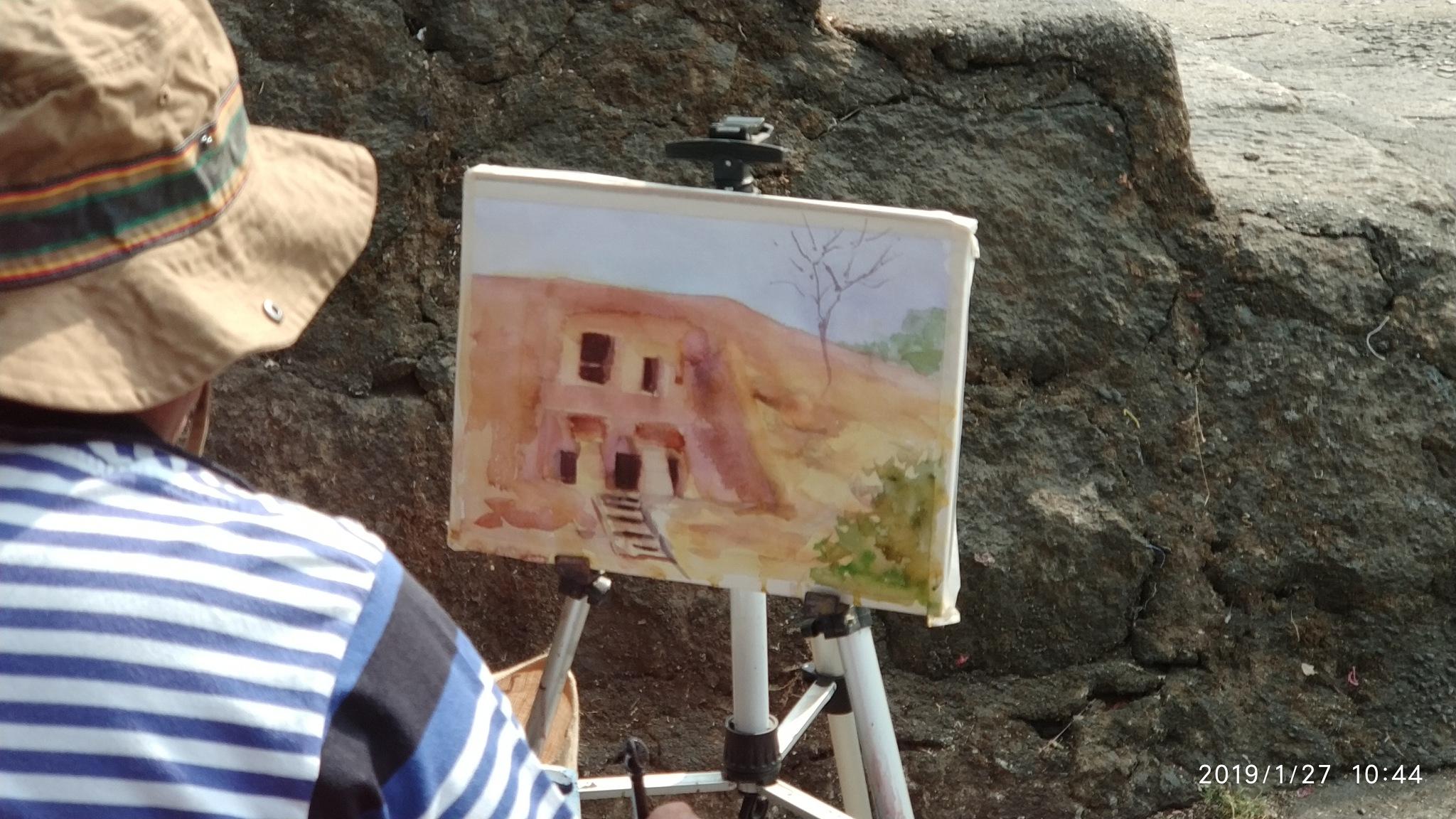 Artists View - Indian Heritage - Kanheri Caves by Bharat R Khatri
