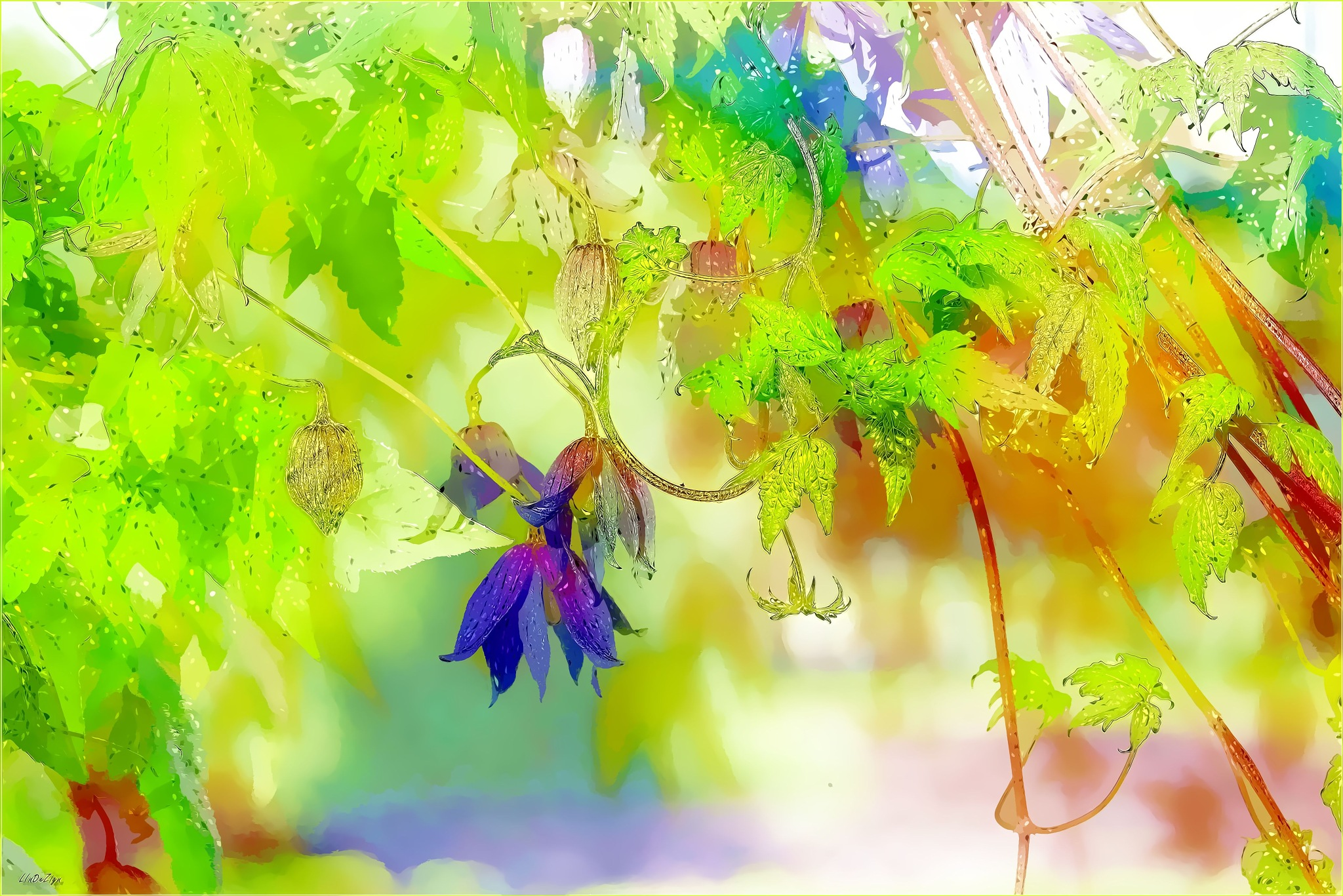 ~ Clematis Flower Fantasy ~ by LInDeZign