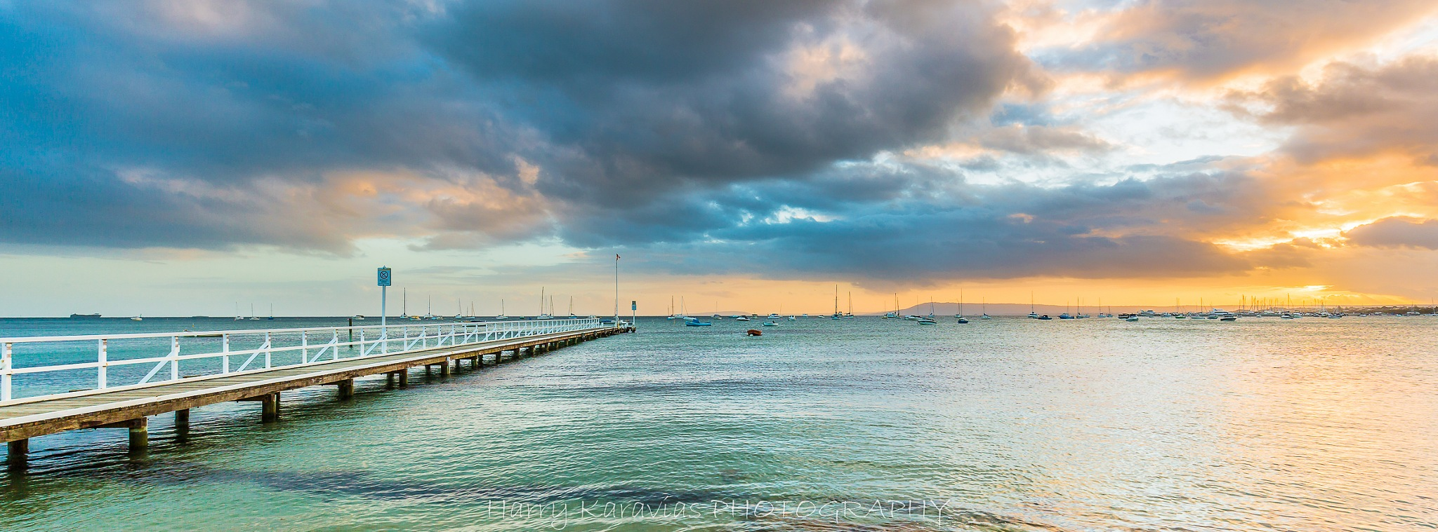 People's Jetty Sorrento Vic by Harry Karavias