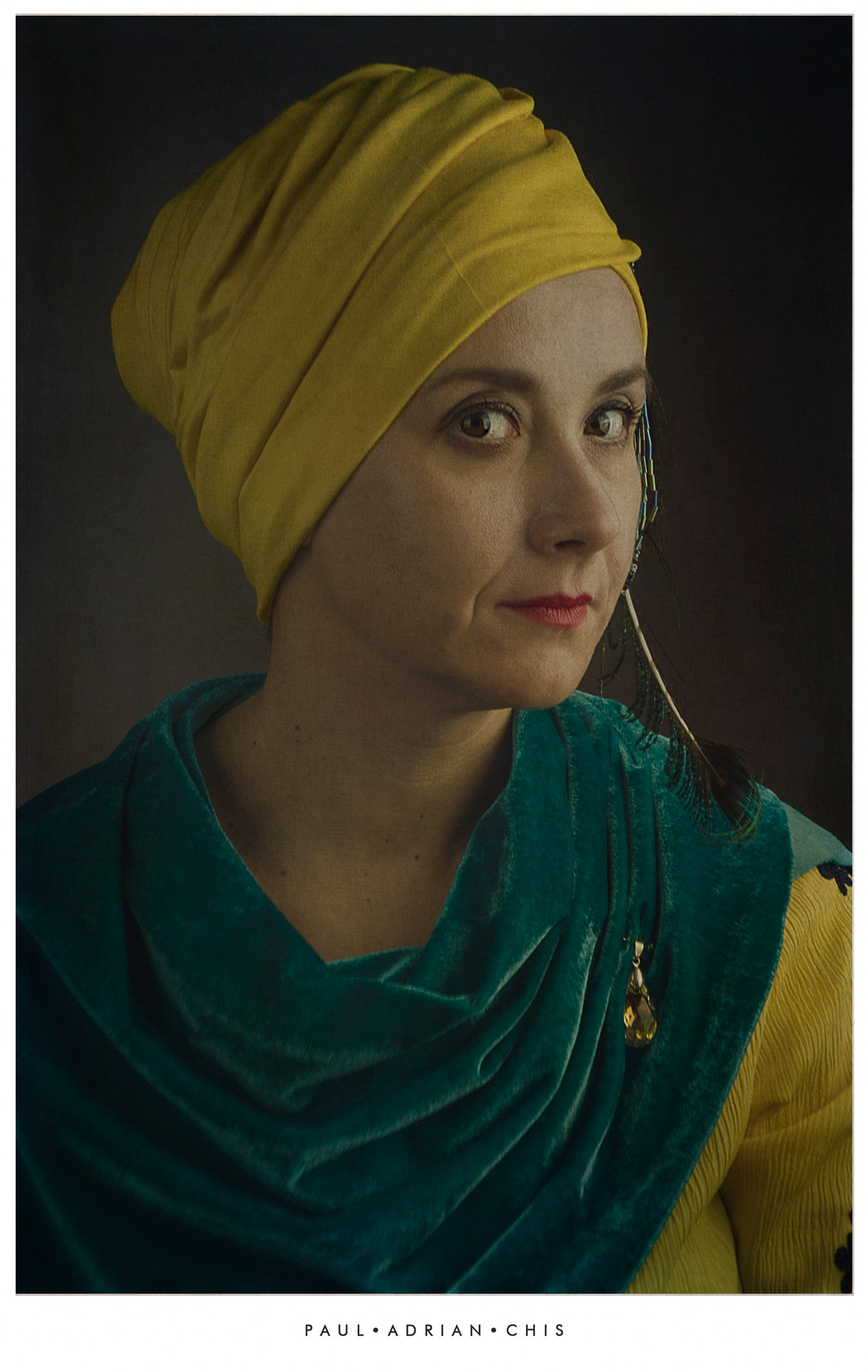 Woman with yellow turban by Paul Adrian Chis
