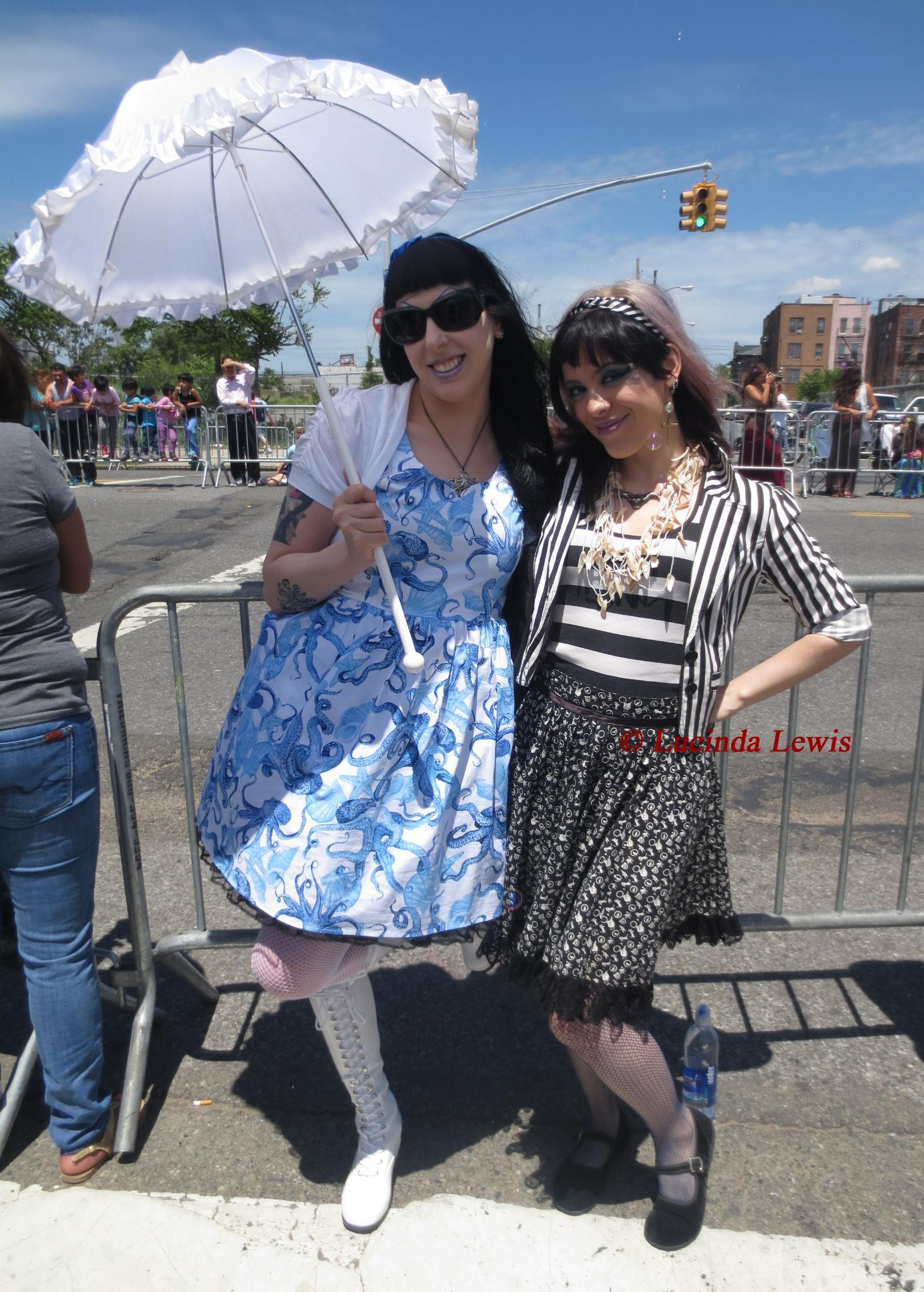 Mermaid Parade watchers at the Coney Island 21 June 2014 by LucindaLewis
