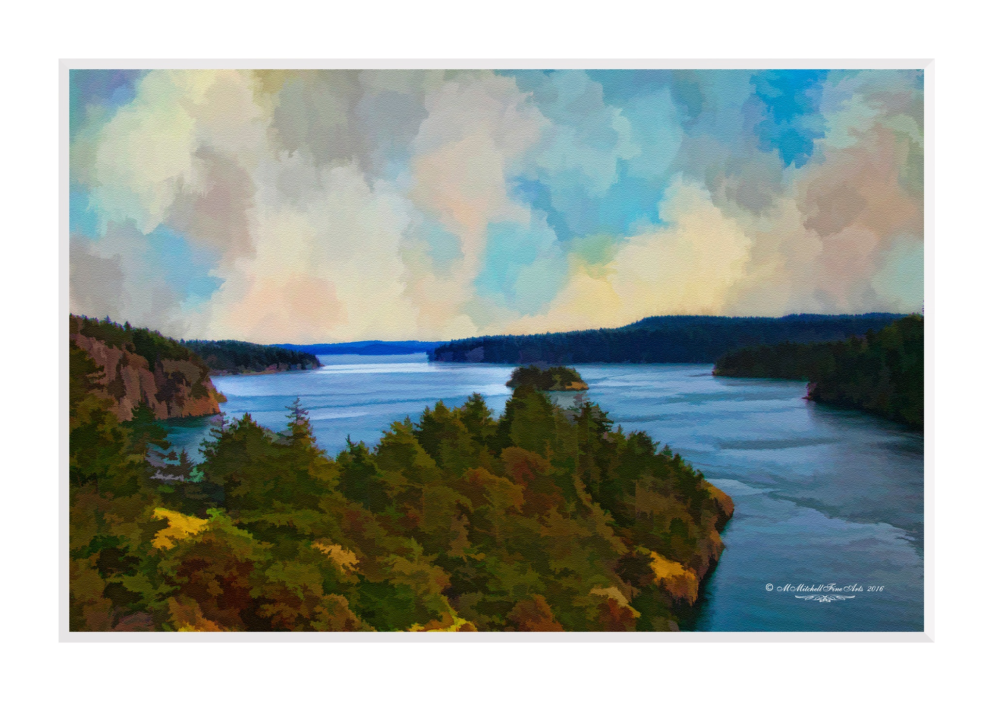 A View from Deception Pass Bridge by Mary Mitchell
