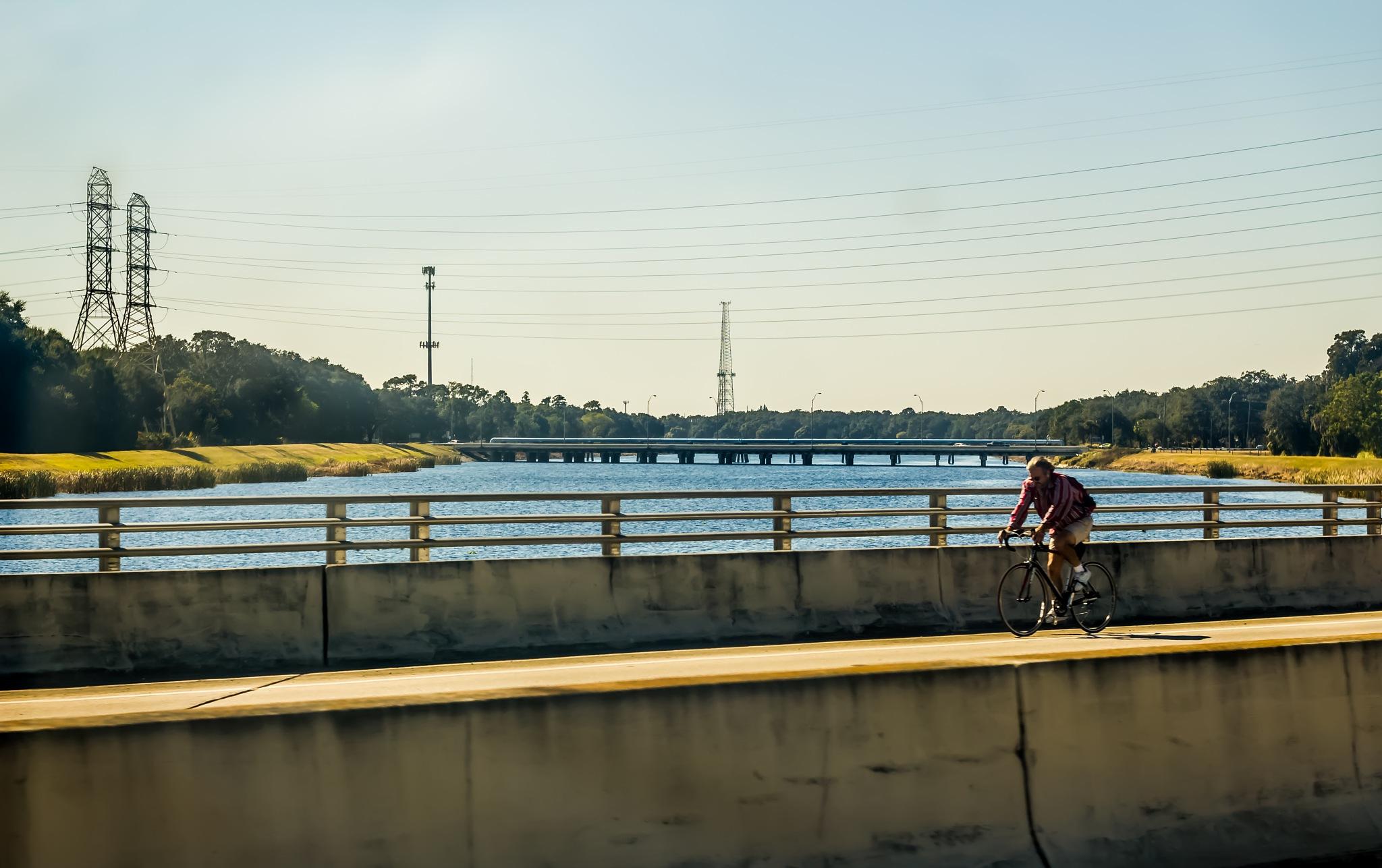 morning bike ride by Linda Hammad