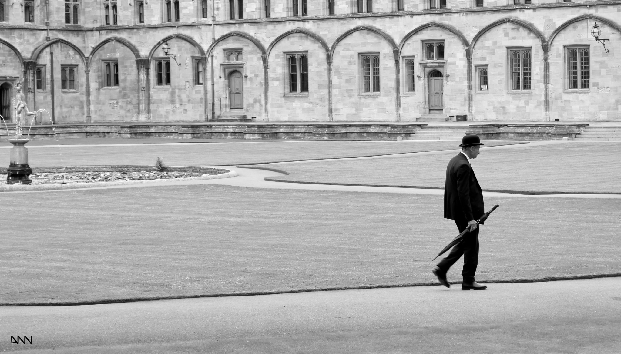 walking in the garden  by Anton Nistor Nicolae