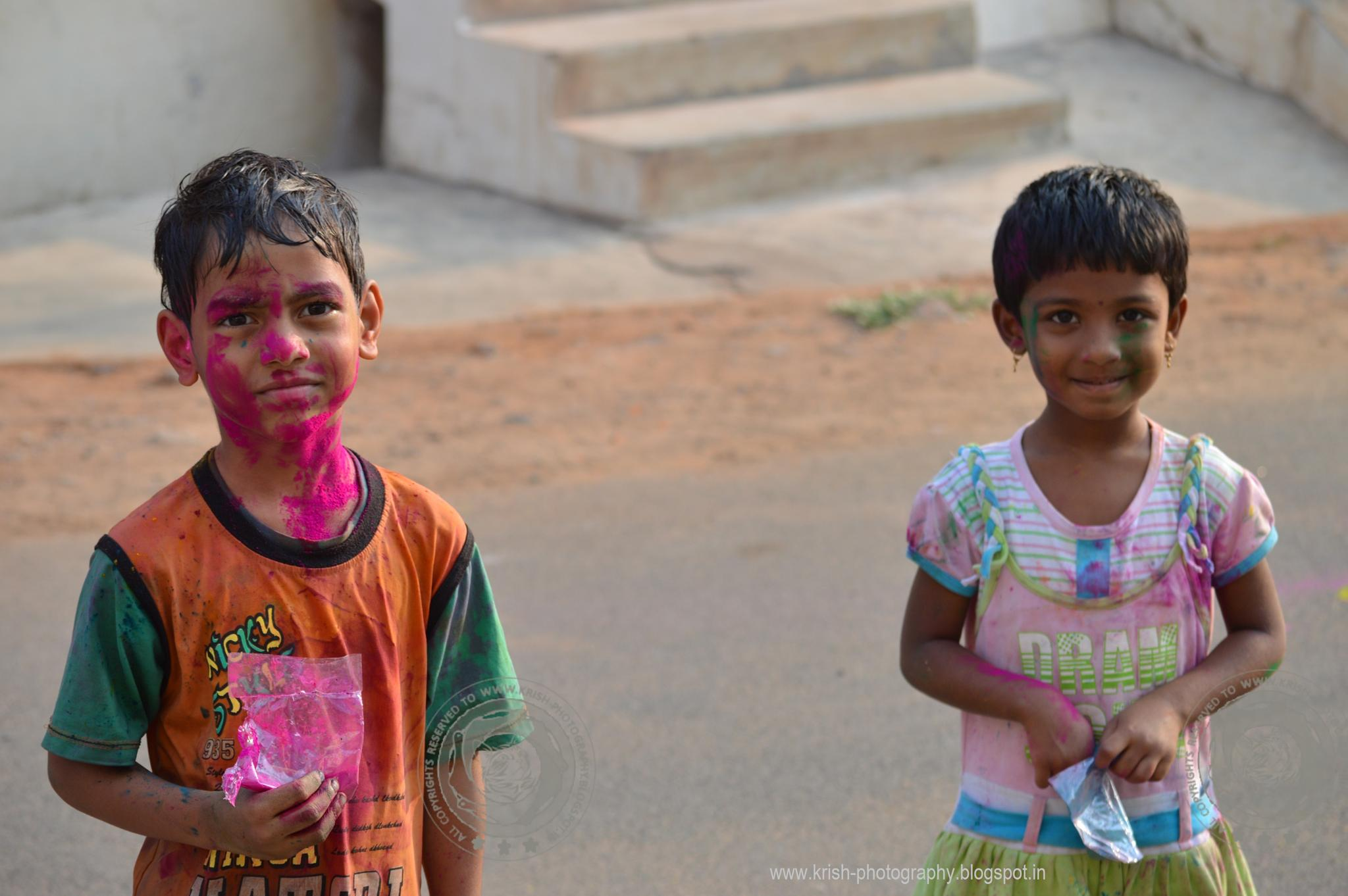 Kids with Colours by krishna Mohan
