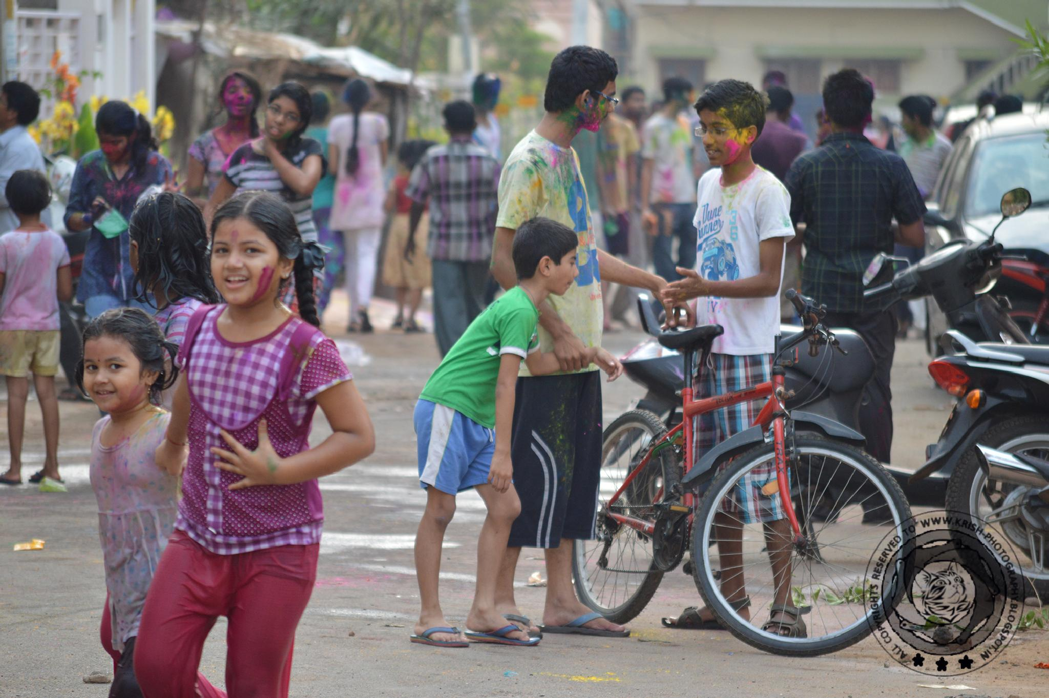 Celebrations with colours by krishna Mohan