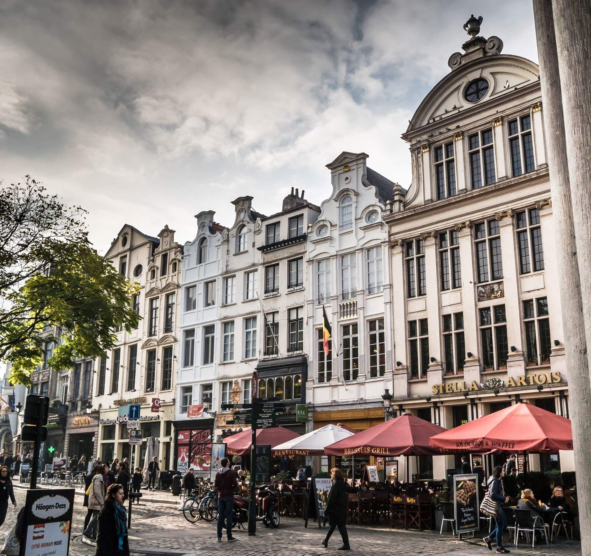 old street in Brussels by Philippe Dugout