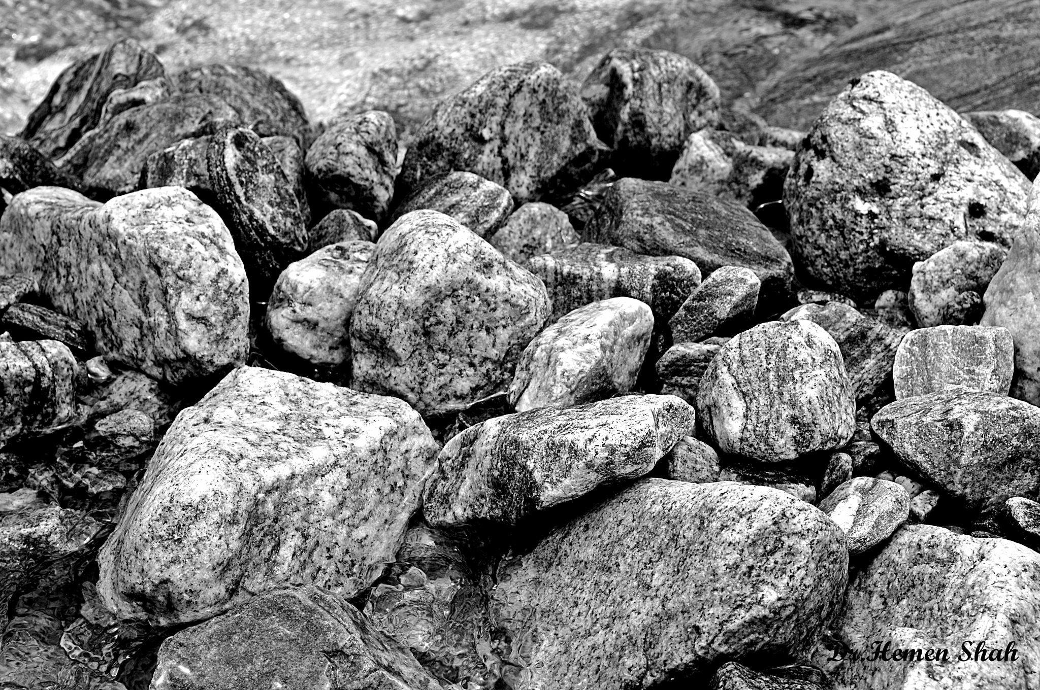 STONES AT THE RIVER BANK by Hemen