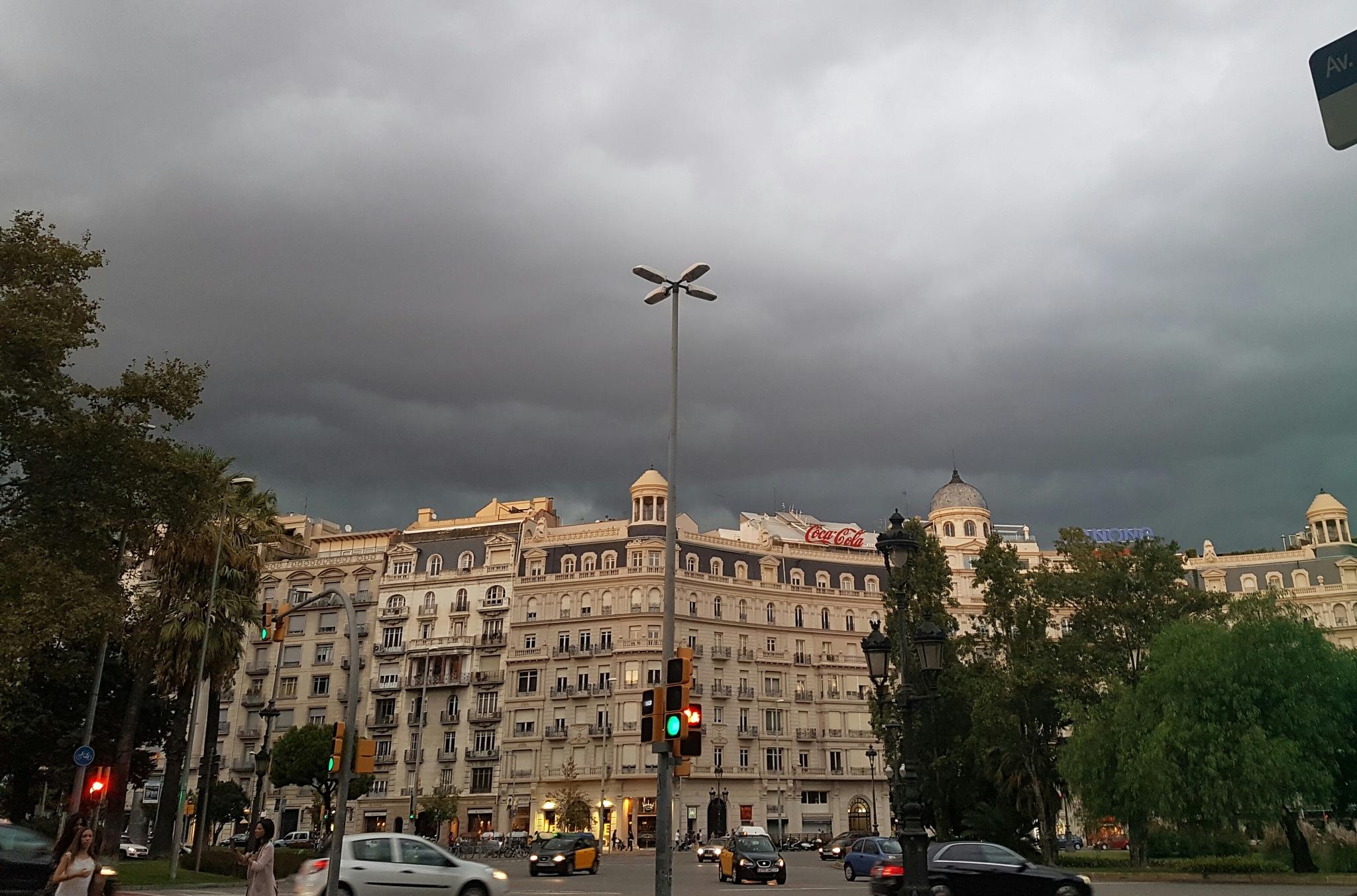 Storm over Barcelona by PortenyoBarcino