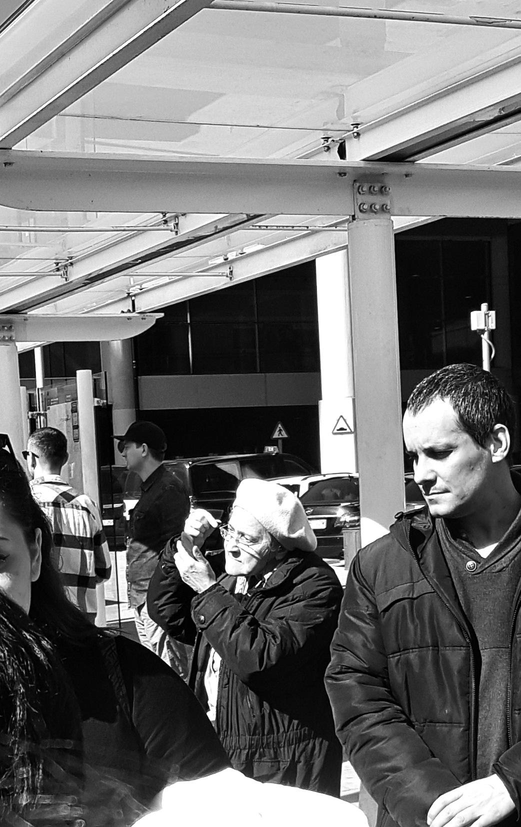 Waxing at bus stop by PortenyoBarcino
