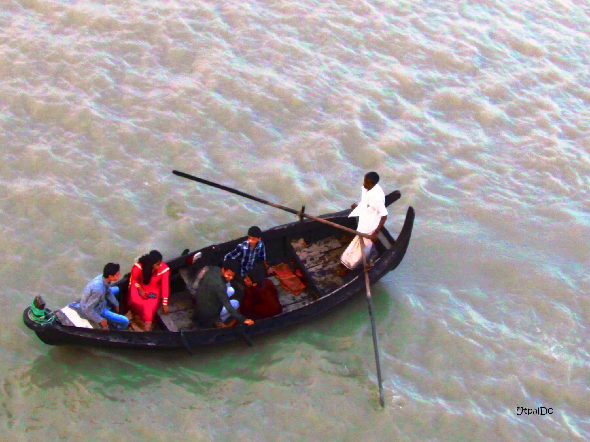 Sampan Ride by Utpal Dey Chowdhury