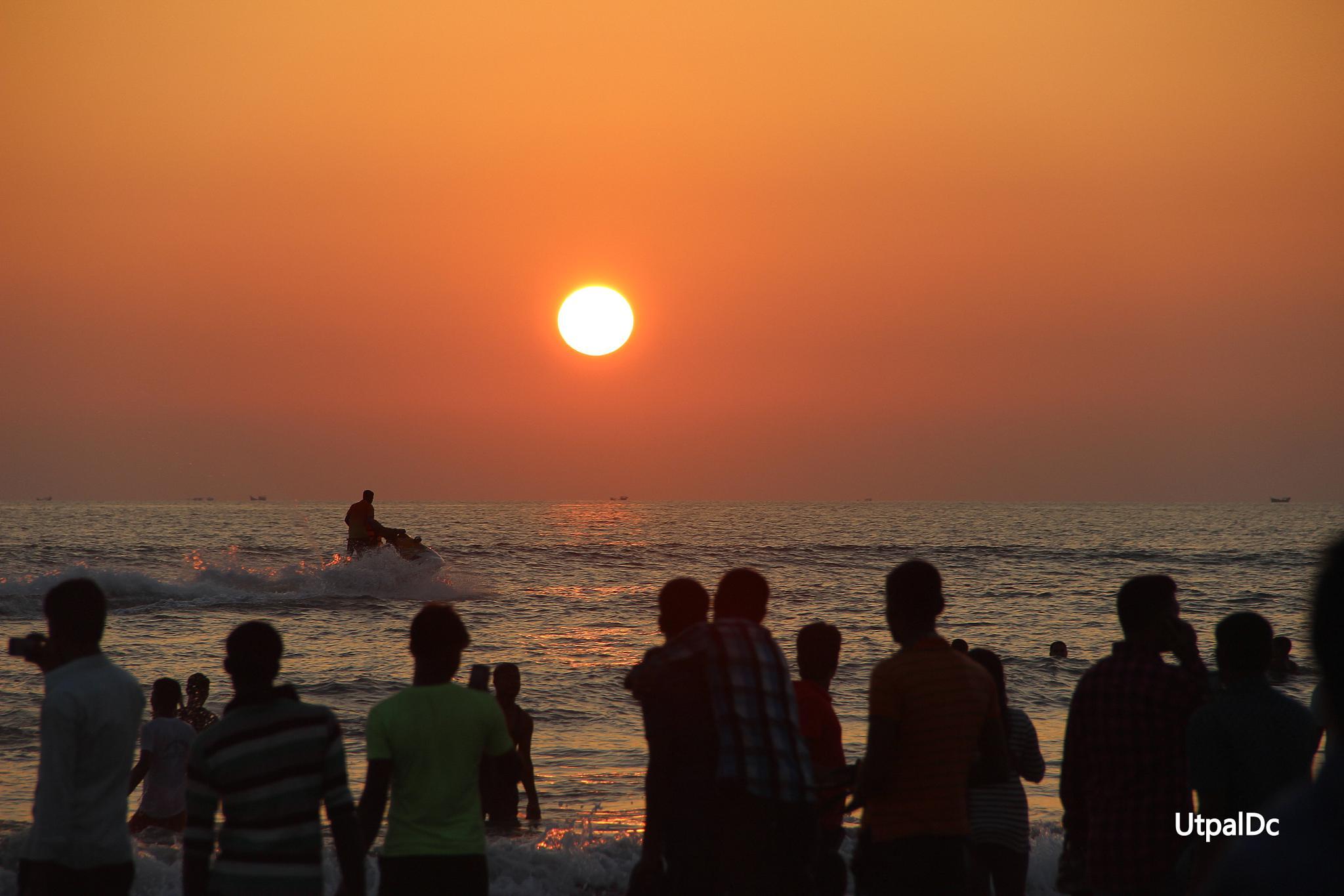 Enjoying Sun Set by Utpal Dey Chowdhury