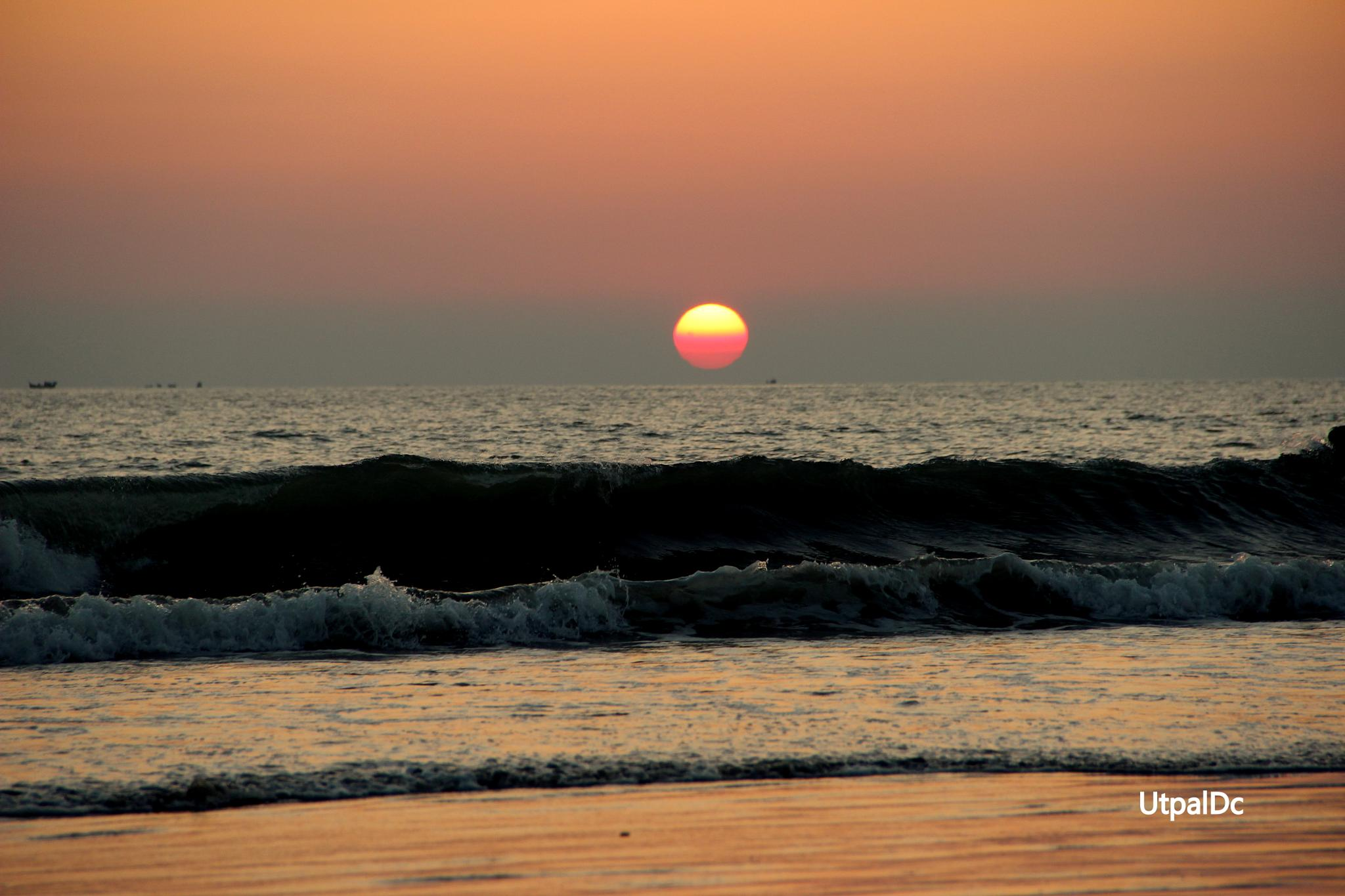 Sun Set by Utpal Dey Chowdhury