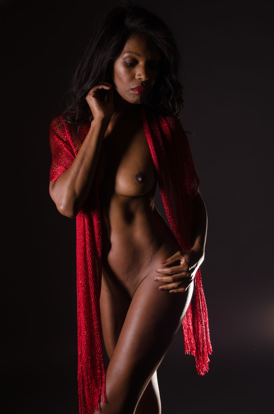 red shawl by Mike Bolton