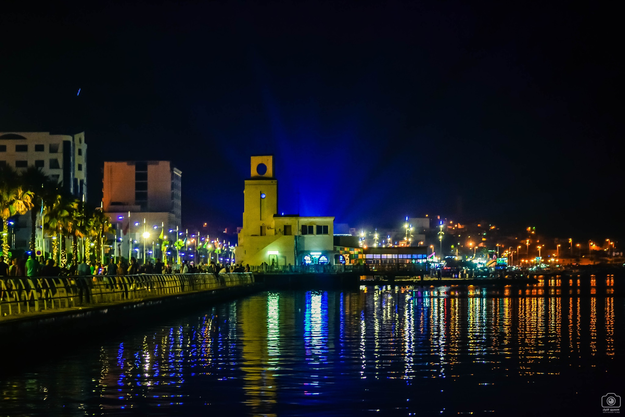 Corniche of Nador at night by Houssaintork