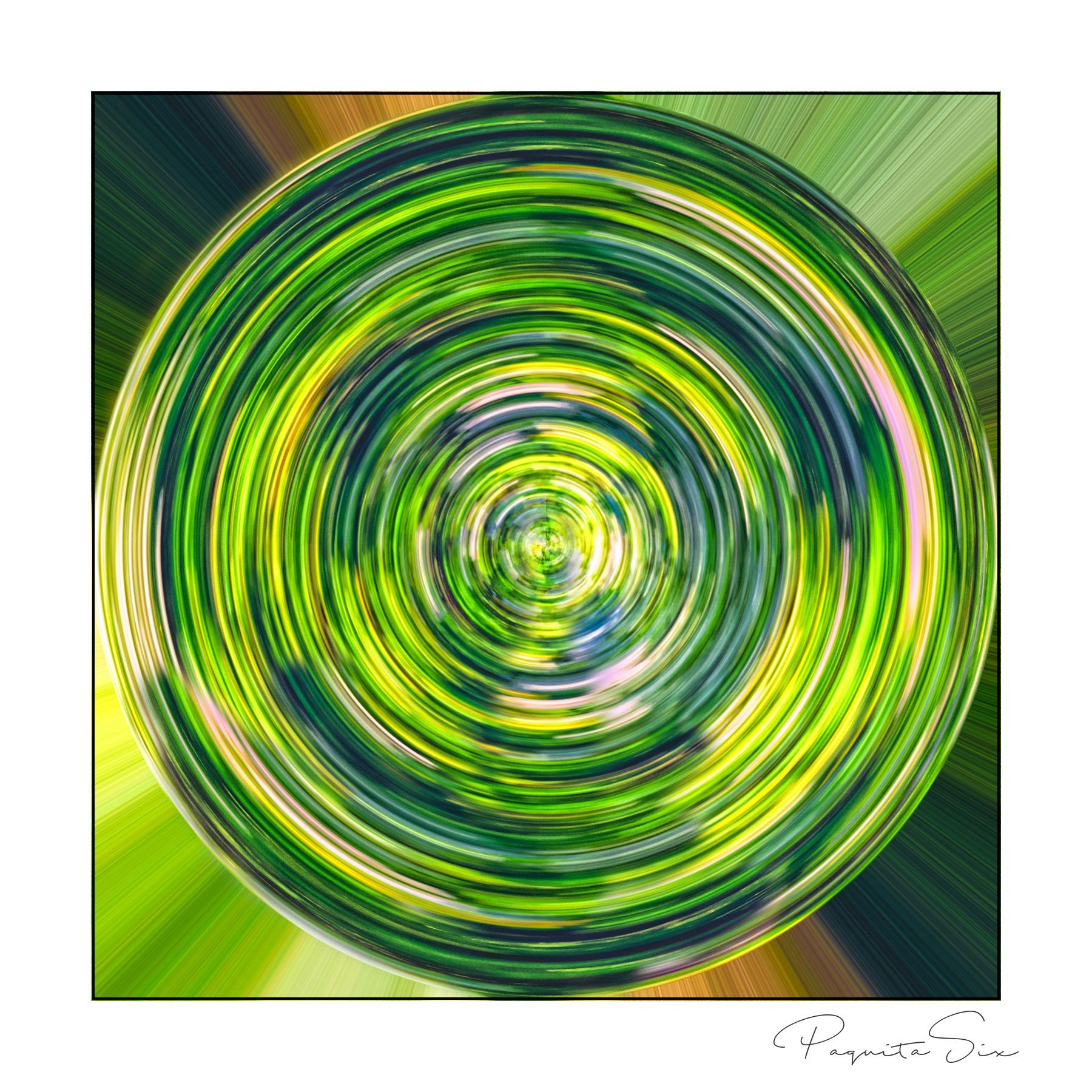 green circle by Paquita