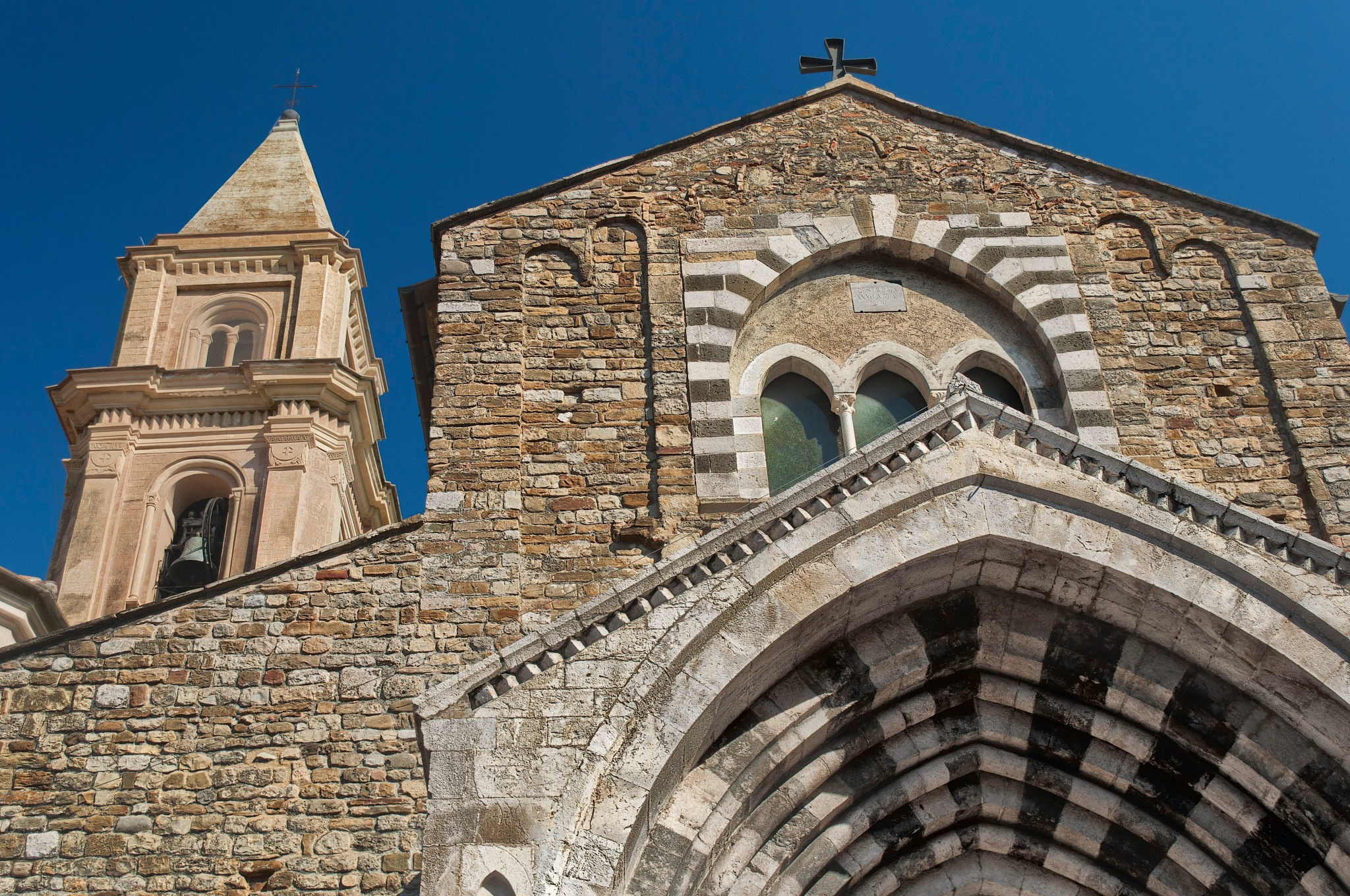 The western façade of Chiesa di San Michele Arcangelo in Ventimiglia by David Henry