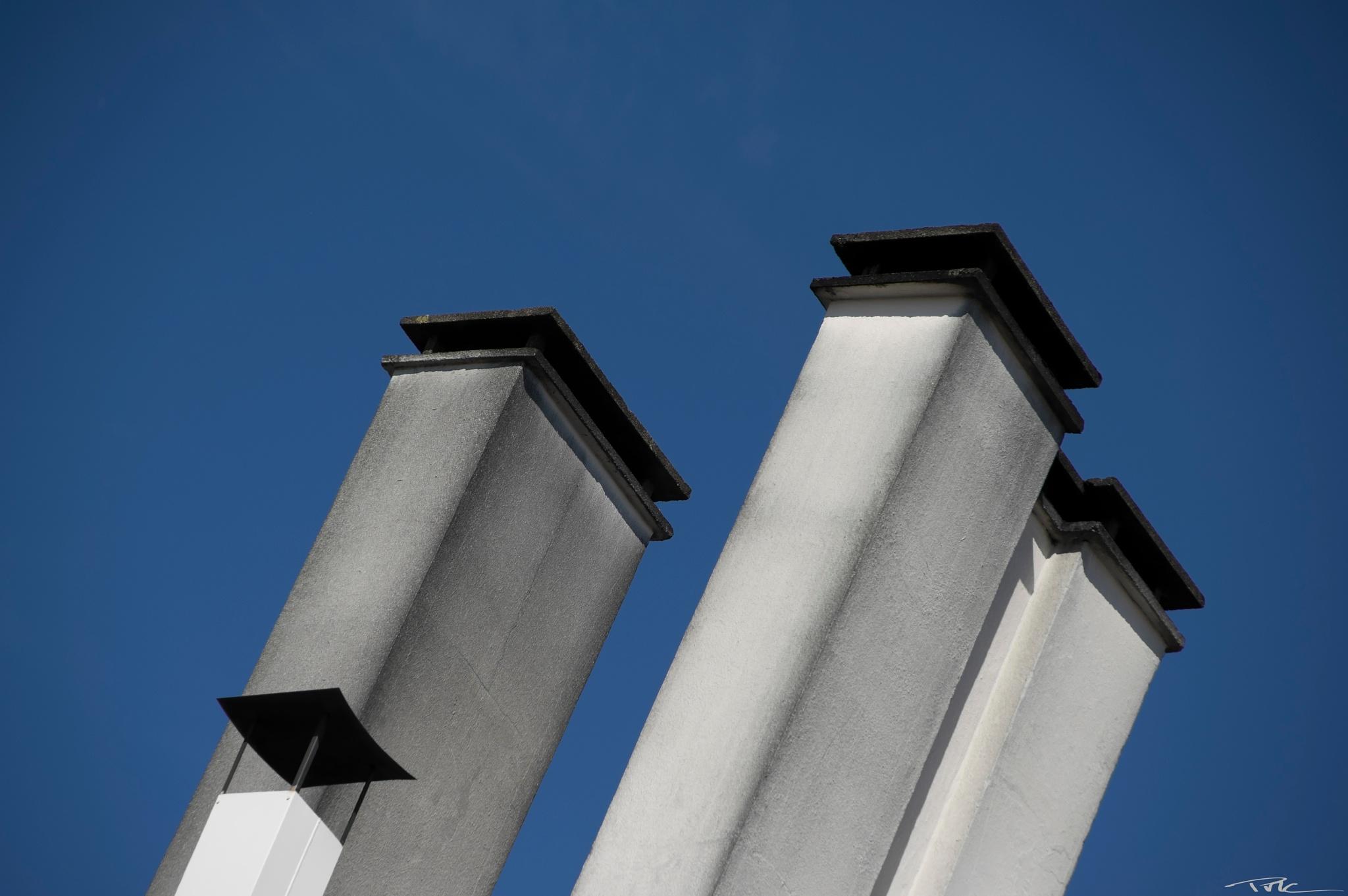 Photo in Urban #chimney #sky #blue