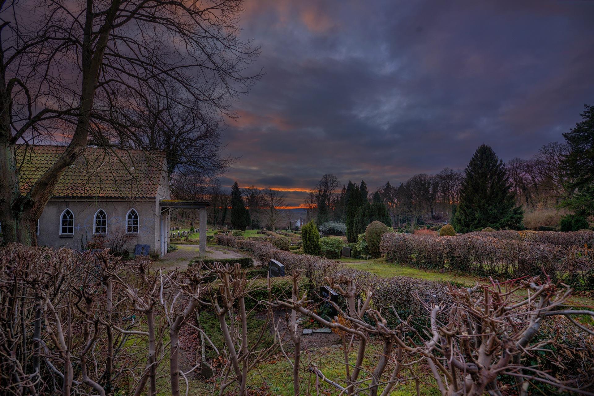 Sunset over the graveyard by Antje Oldefest Miyukikun
