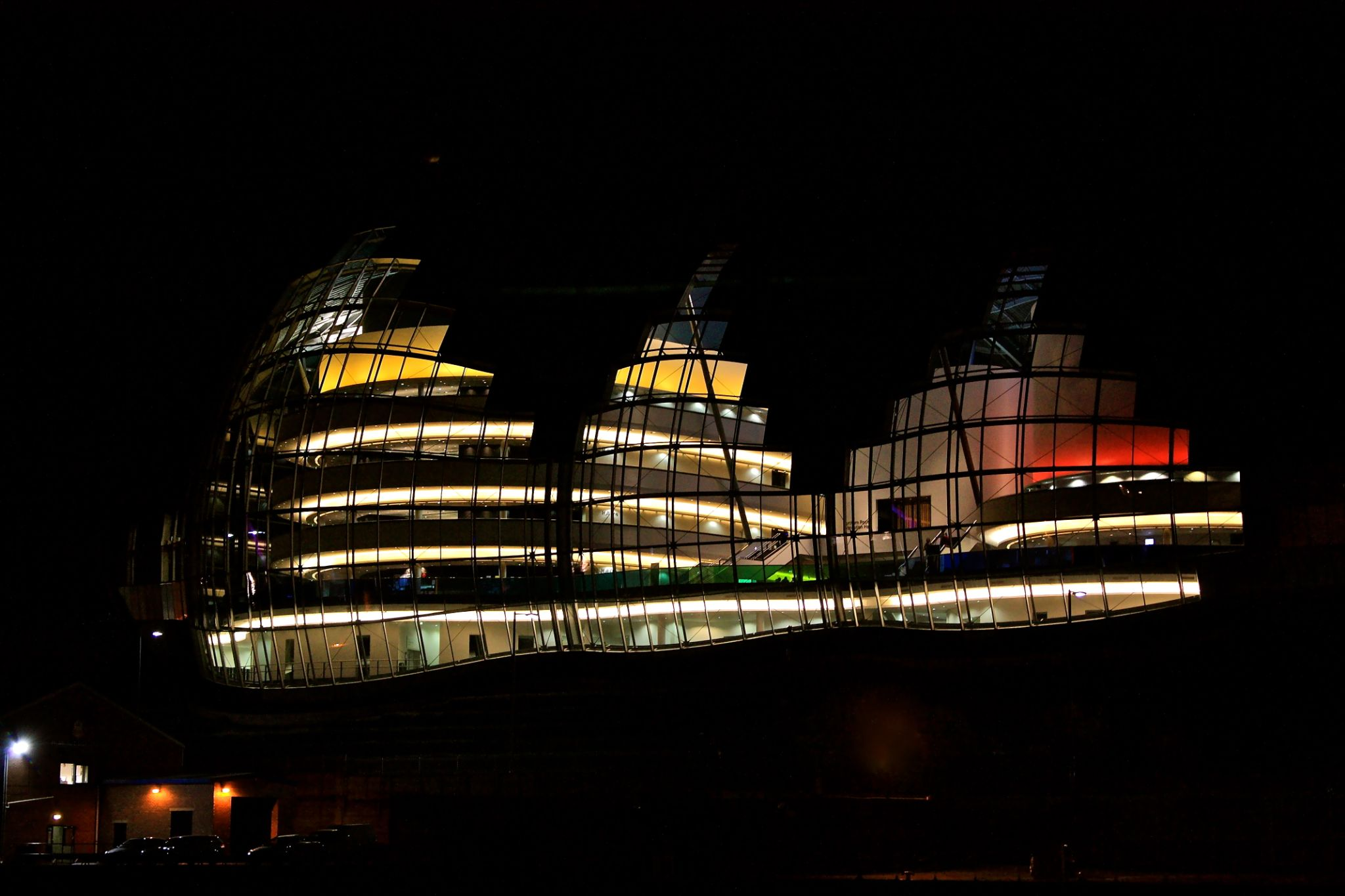 Newcastle_14 The Sage Music Venue at night by Randy Dorman