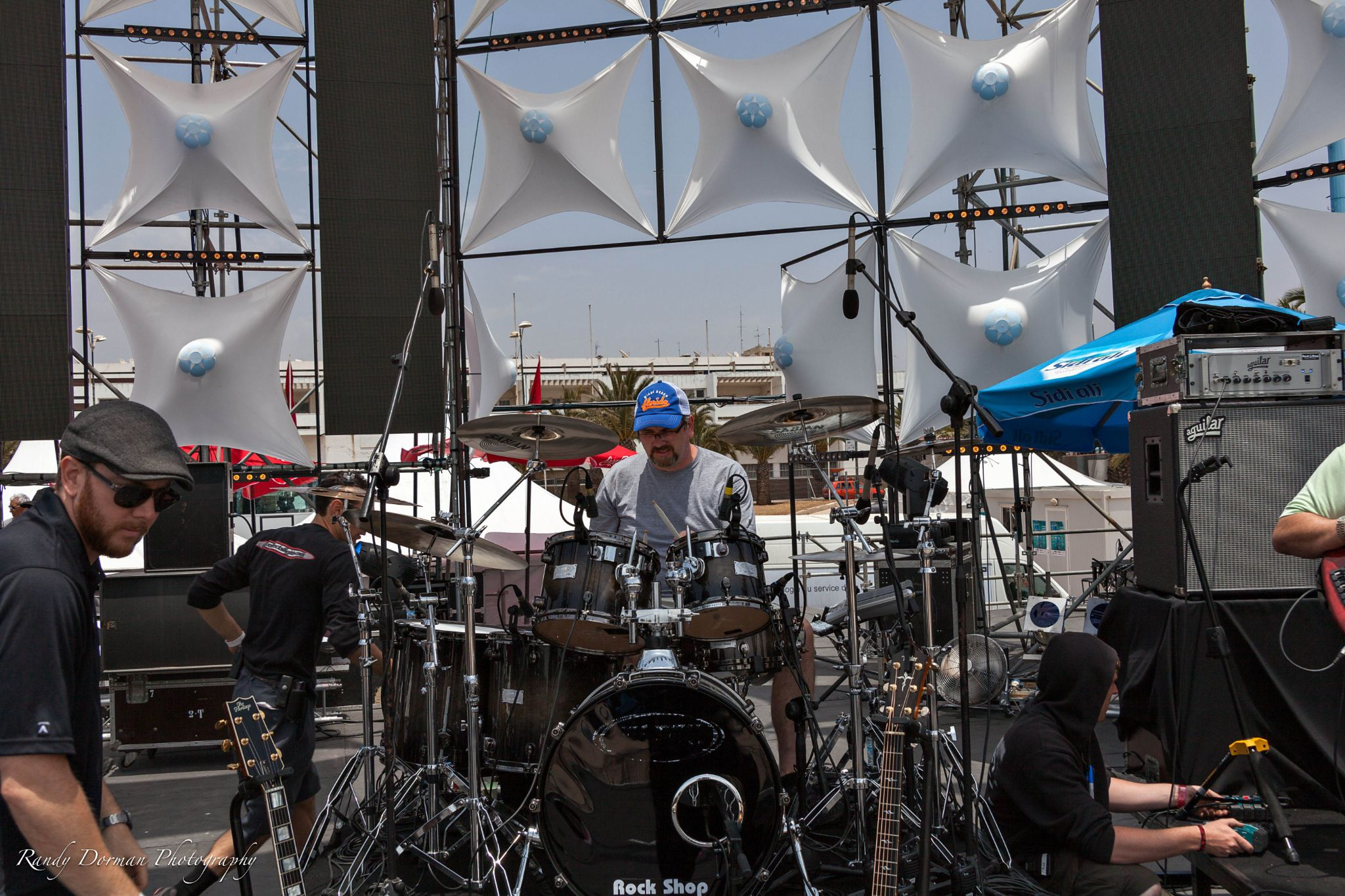 Mike Zimmerman on stage in Morocco by Randy Dorman