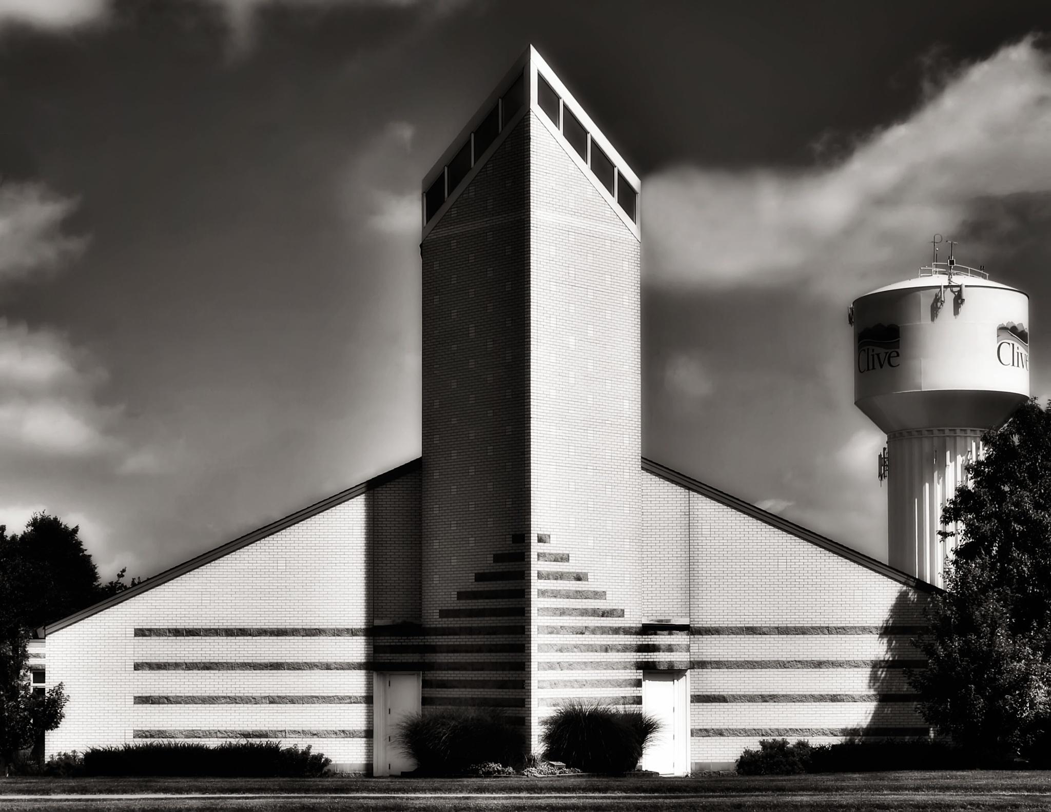 B&W Church by Randy Dorman