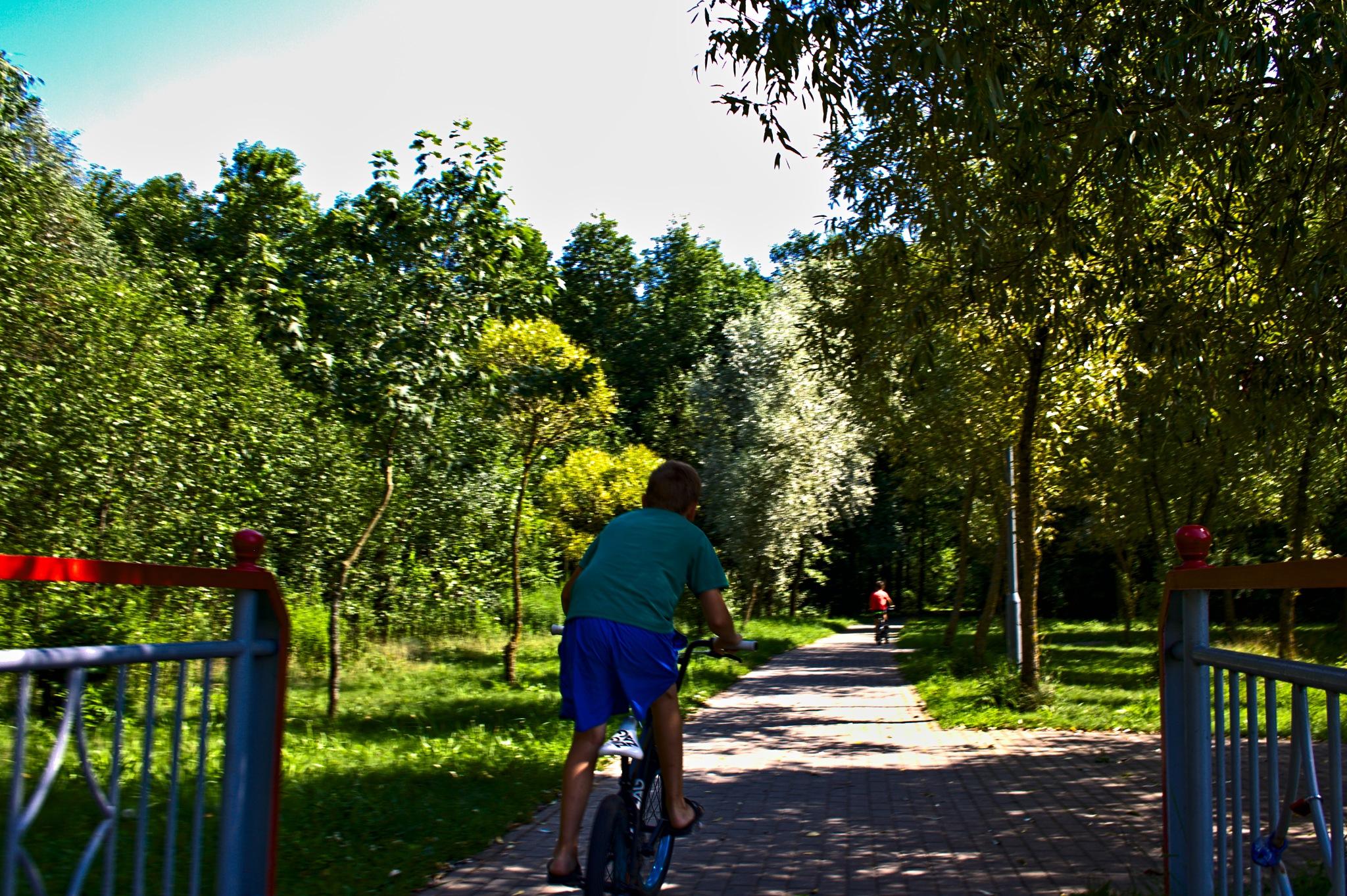 Riding in park by Евгений Козлов