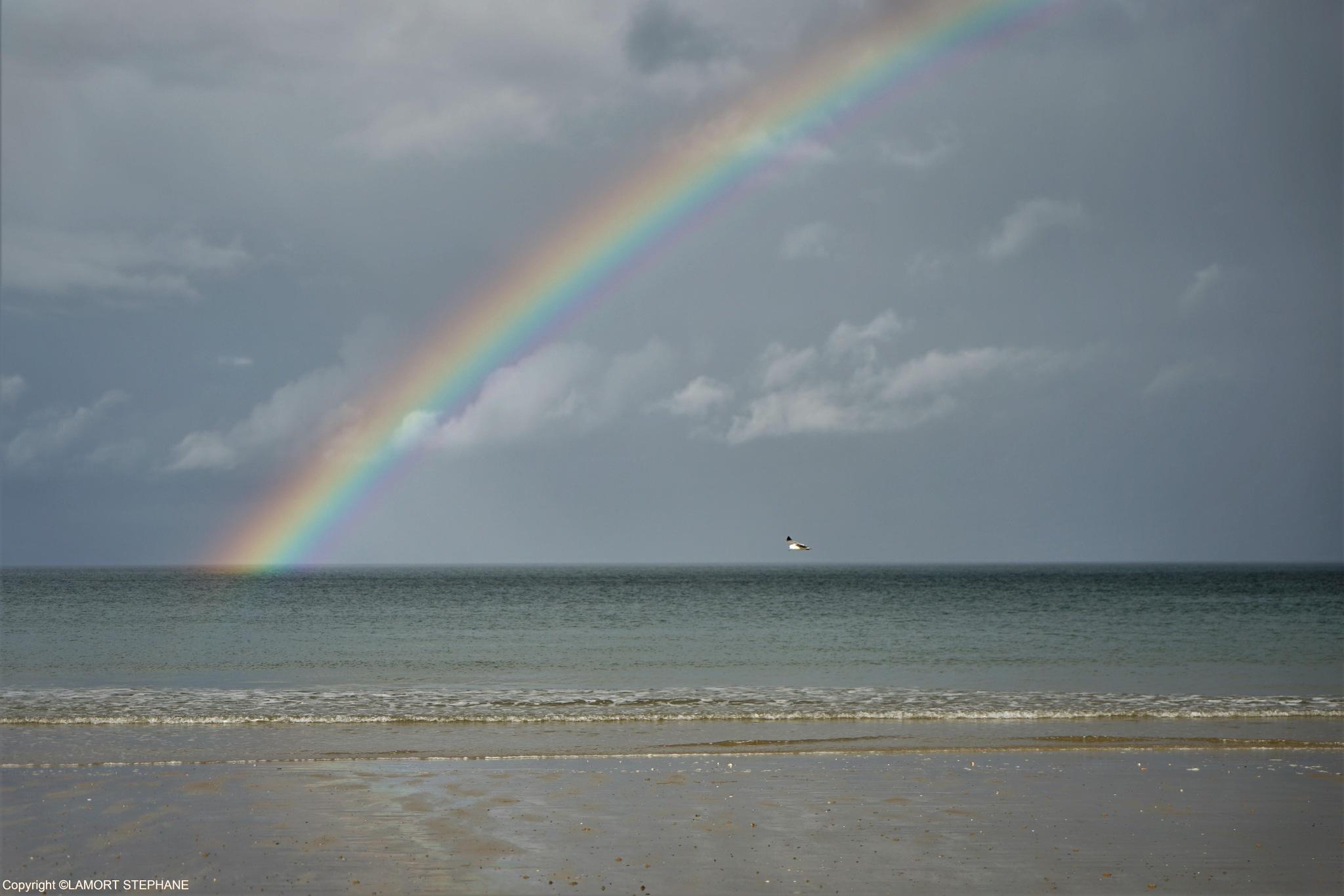 arc en ciel , plage des Rosaires , Plérin  by lamort stephane