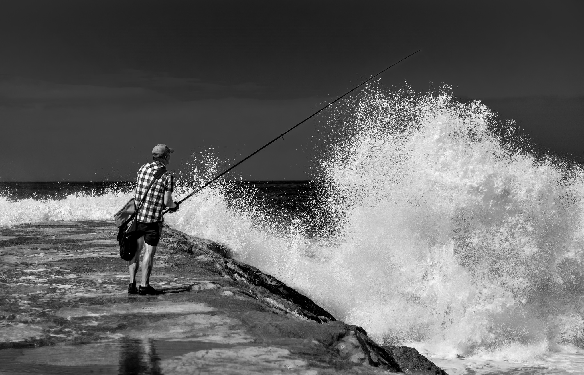 lone fisherman by francescogelati