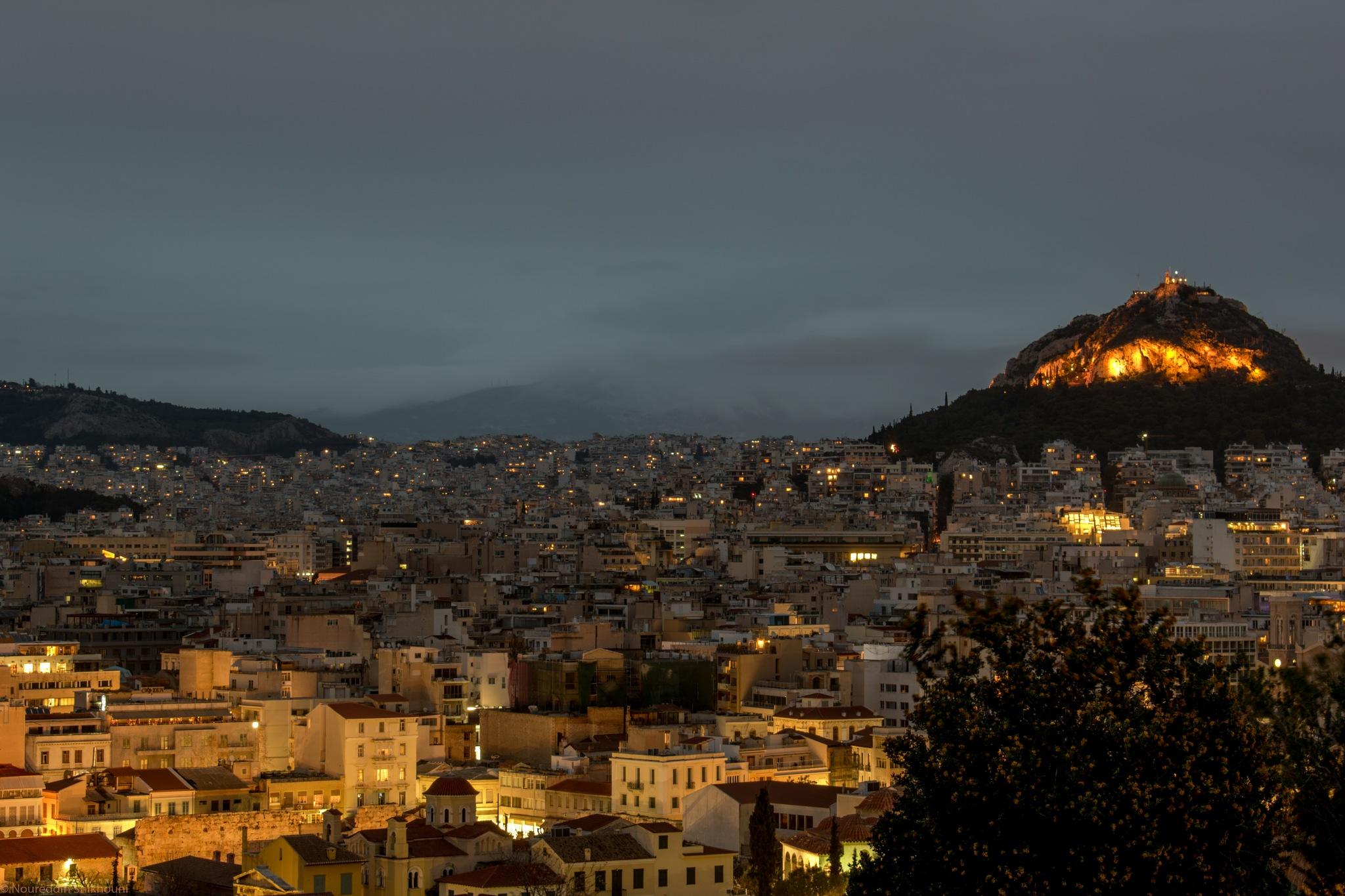 Athens By Night  by Nour-eddin Shikhuoni
