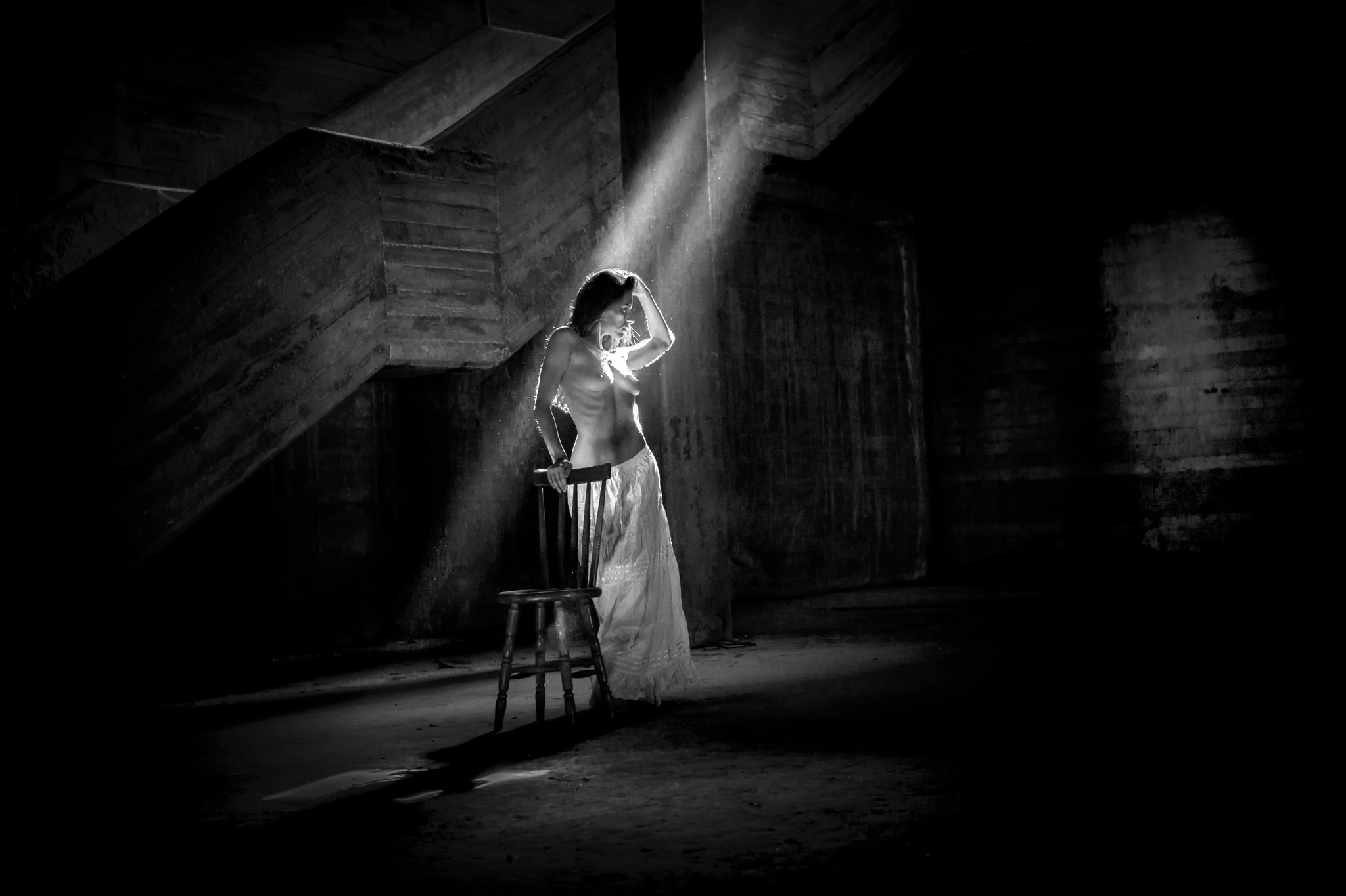 Photo in Nude #nude #beauty #beautiful #model #sensual #black and white #light