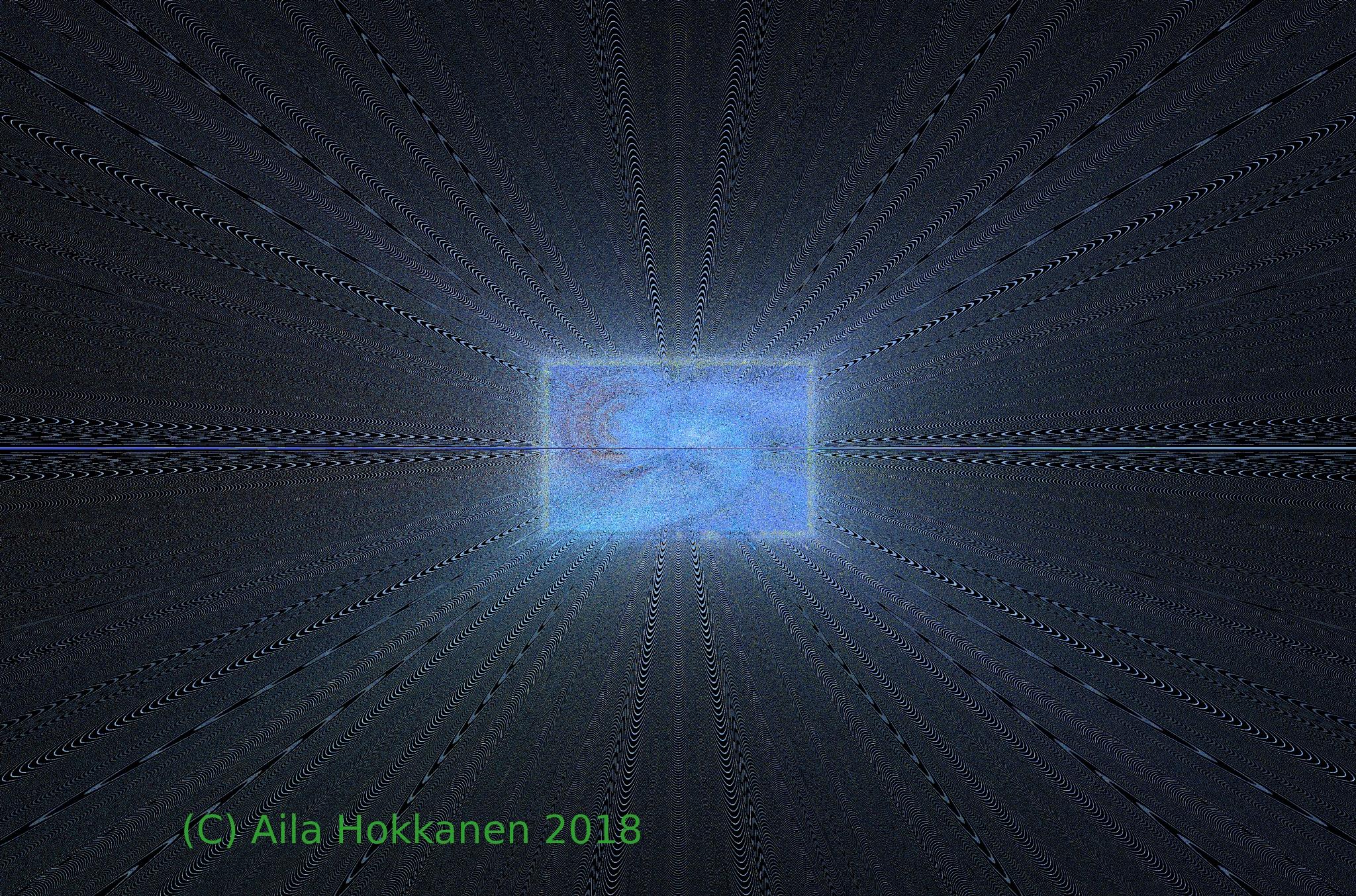 """The Dark Tunnel"" an abstract digital art by Aila Hokkanen"