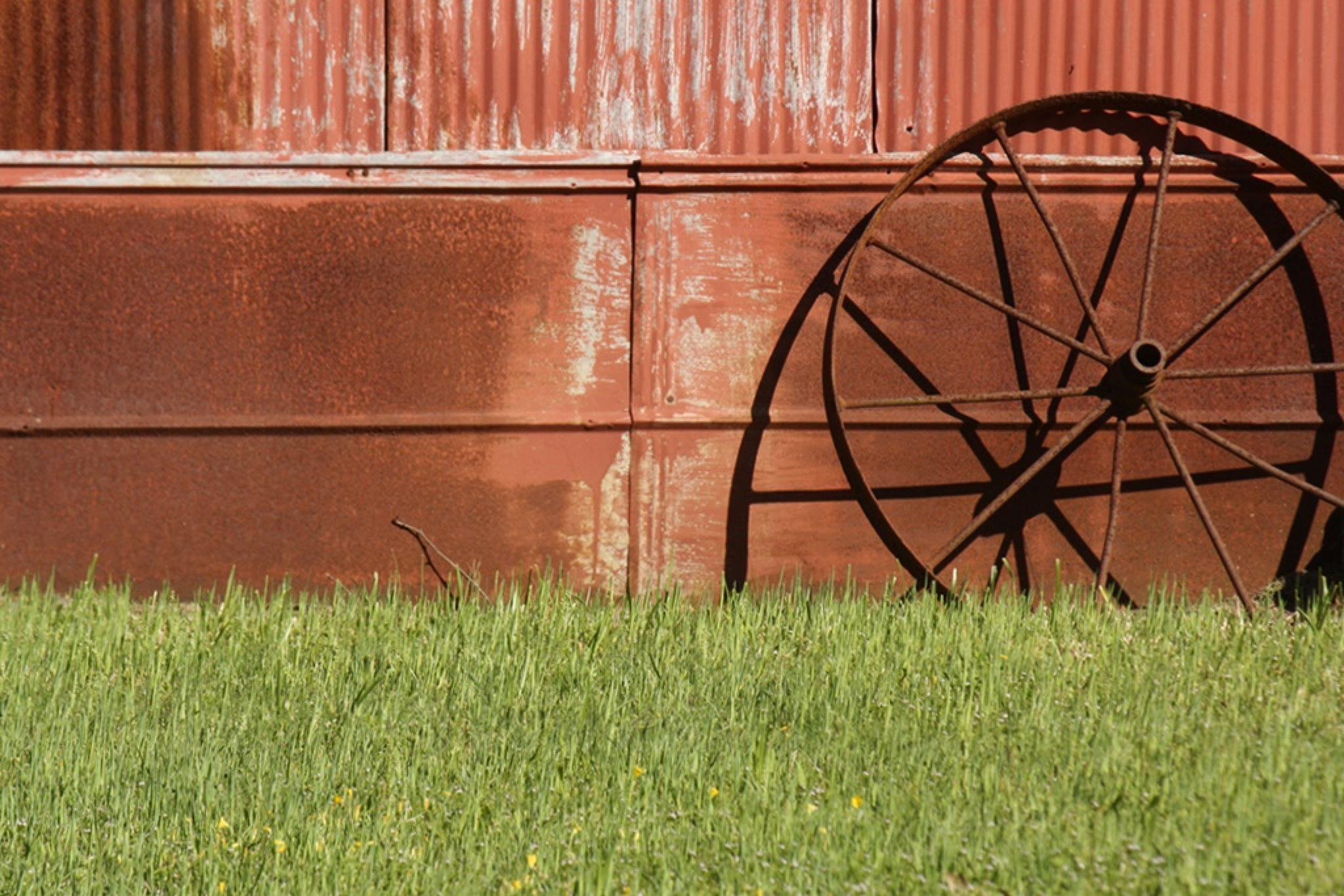 rusty shadows by Sandy Beasley Seymore