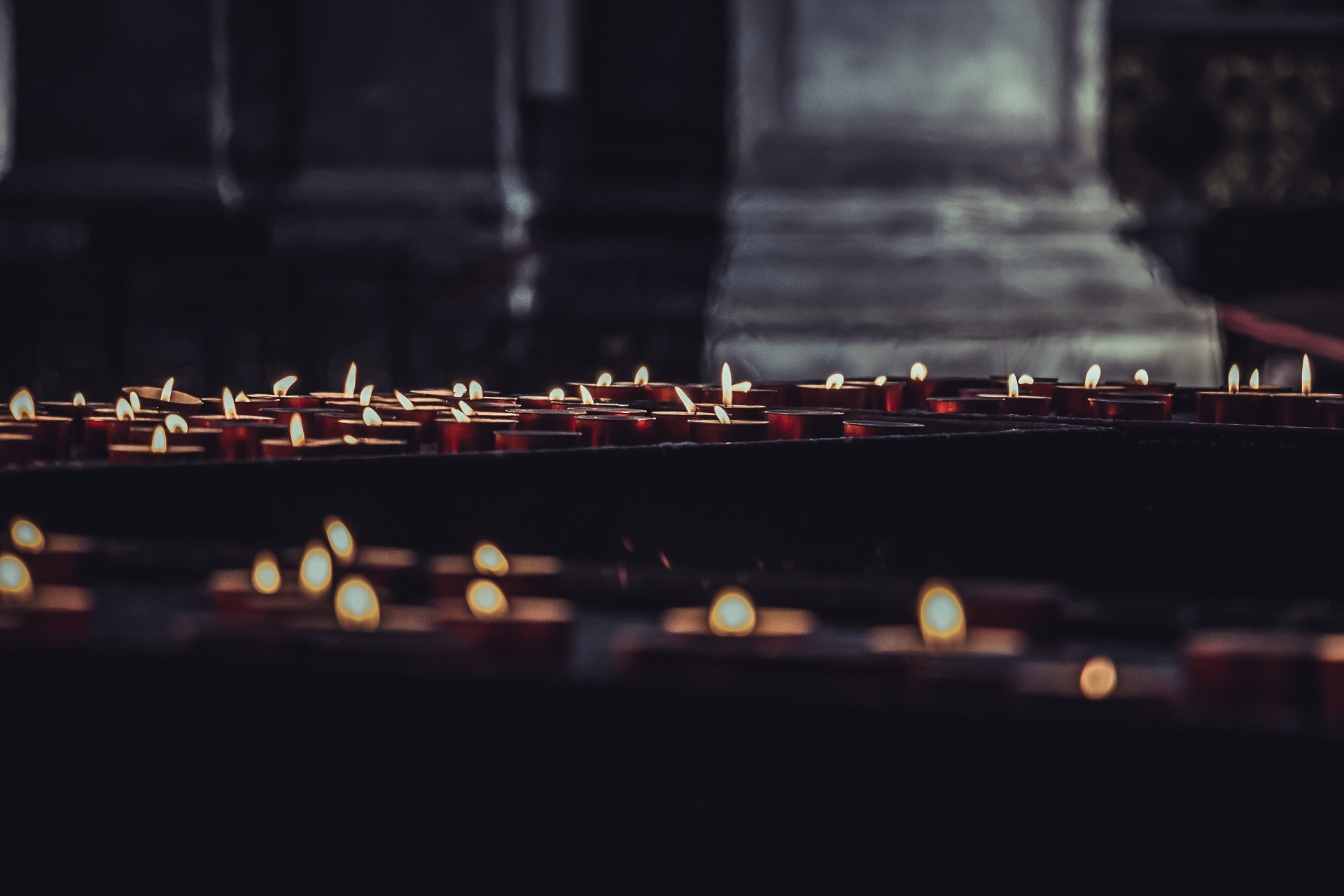 Candles in church by Phantography