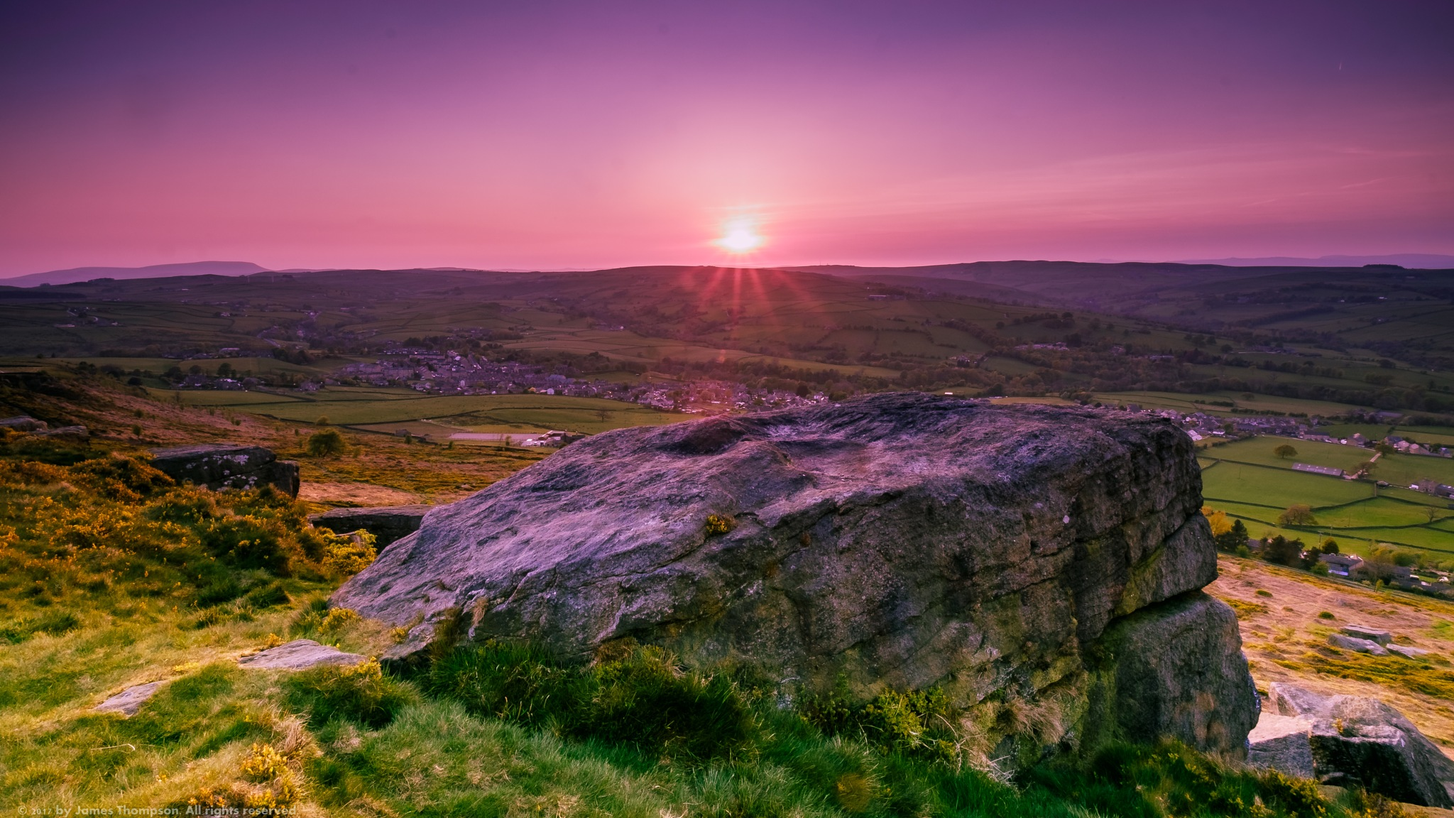 Sunset from Wainman's pinnacle by James Thompson