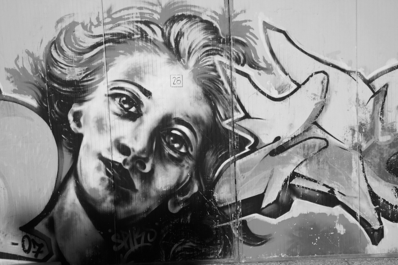 B&W Street Art 2 Civitanovamarche by Ghislain