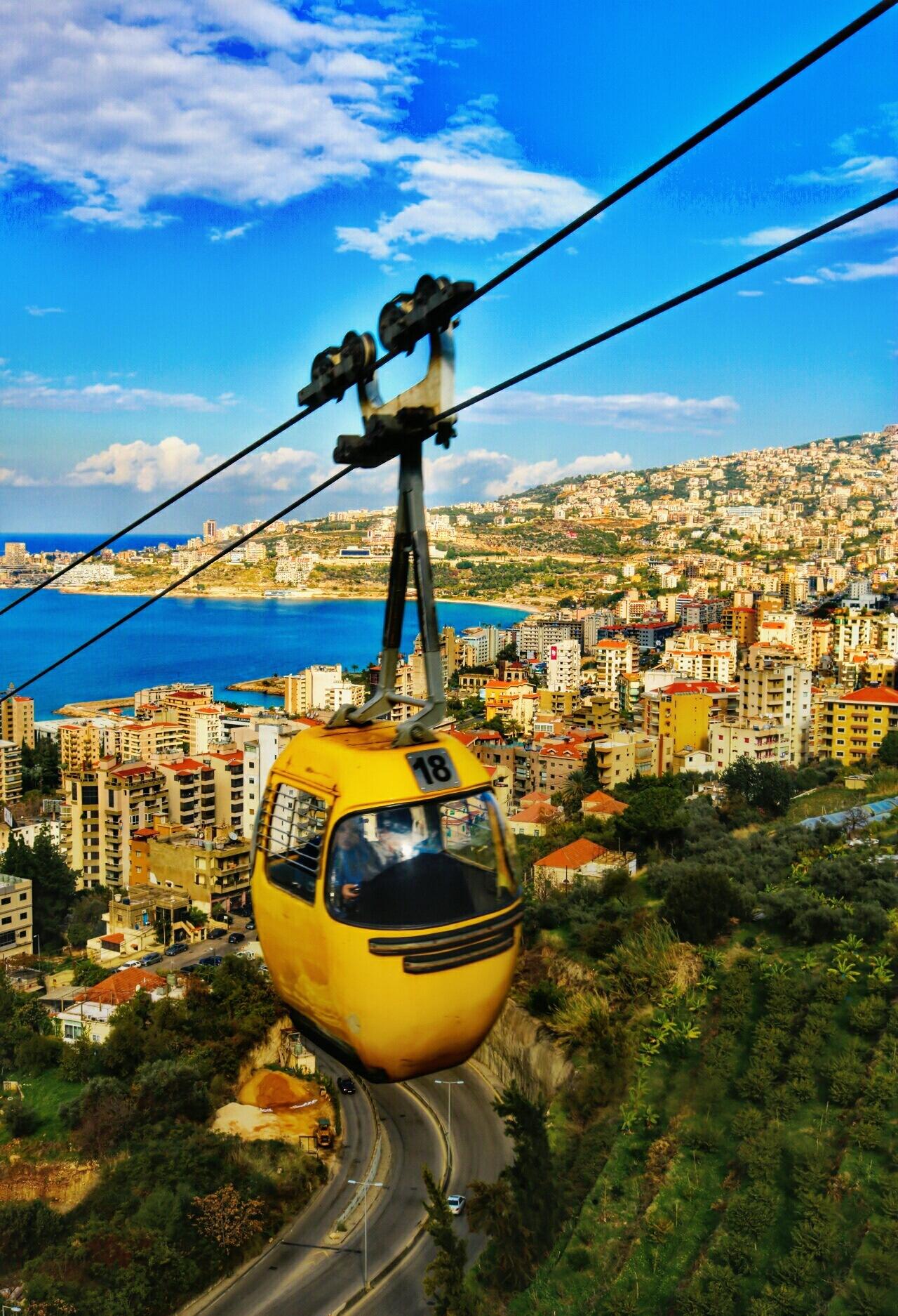 telefrique lebanon by Sarah Alloush