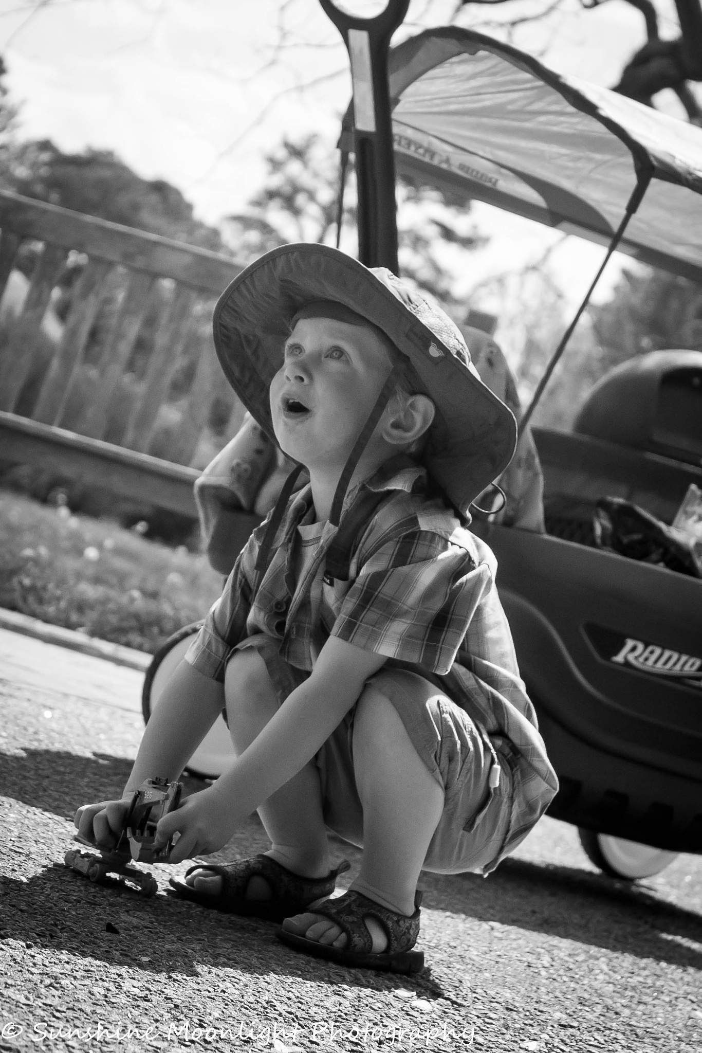 Photo in People #black and white #child #toy